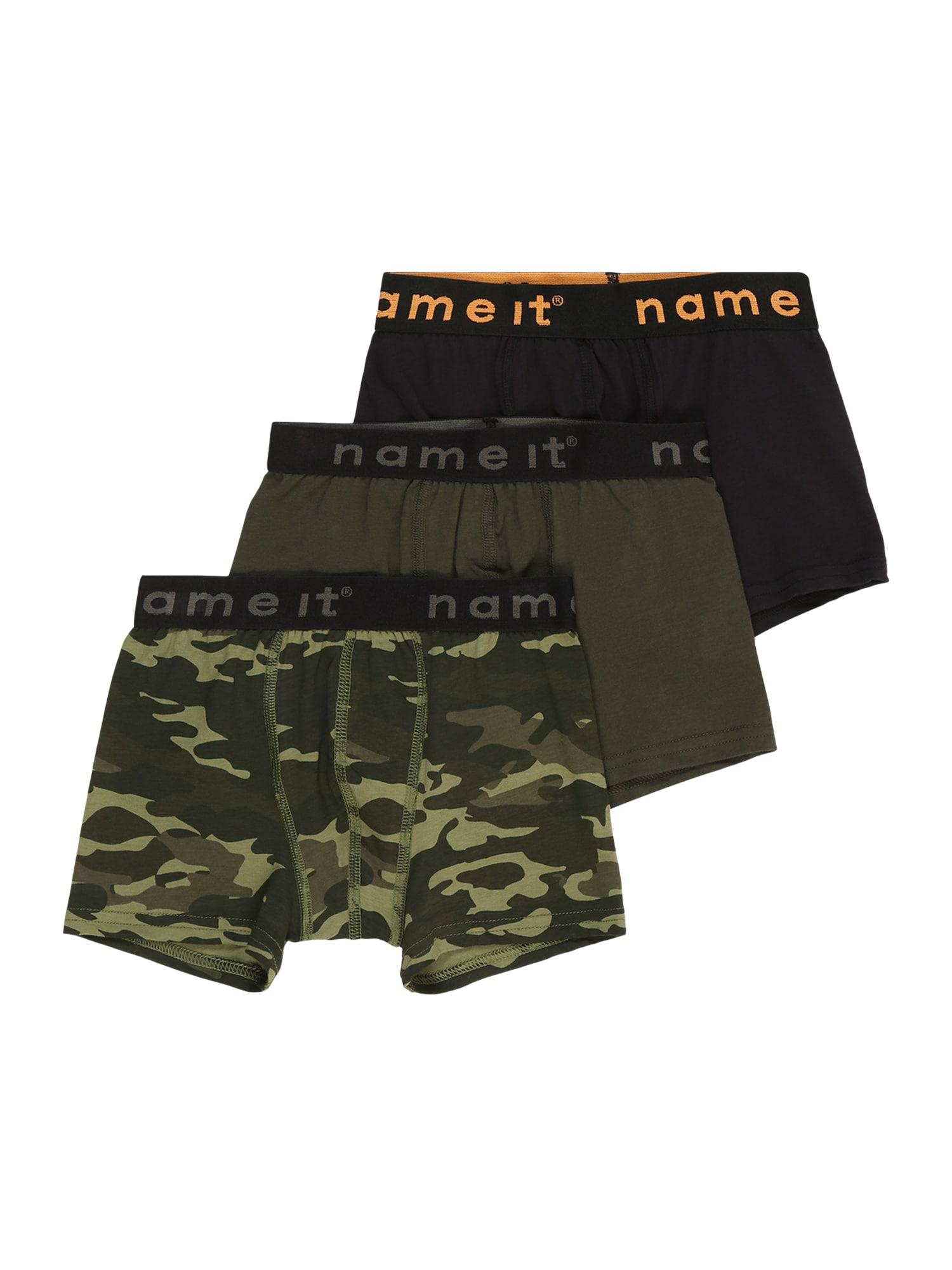 NAME IT Apatinės kelnaitės mišrios spalvos / rusvai žalia / alyvuogių spalva / rusvai pilka / margai juoda