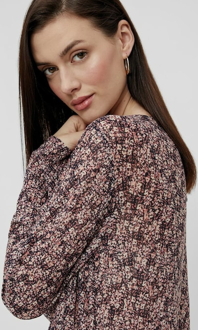 Pieces Gwena Langärmeliges Midi-Kleid mit Blumenmotiv