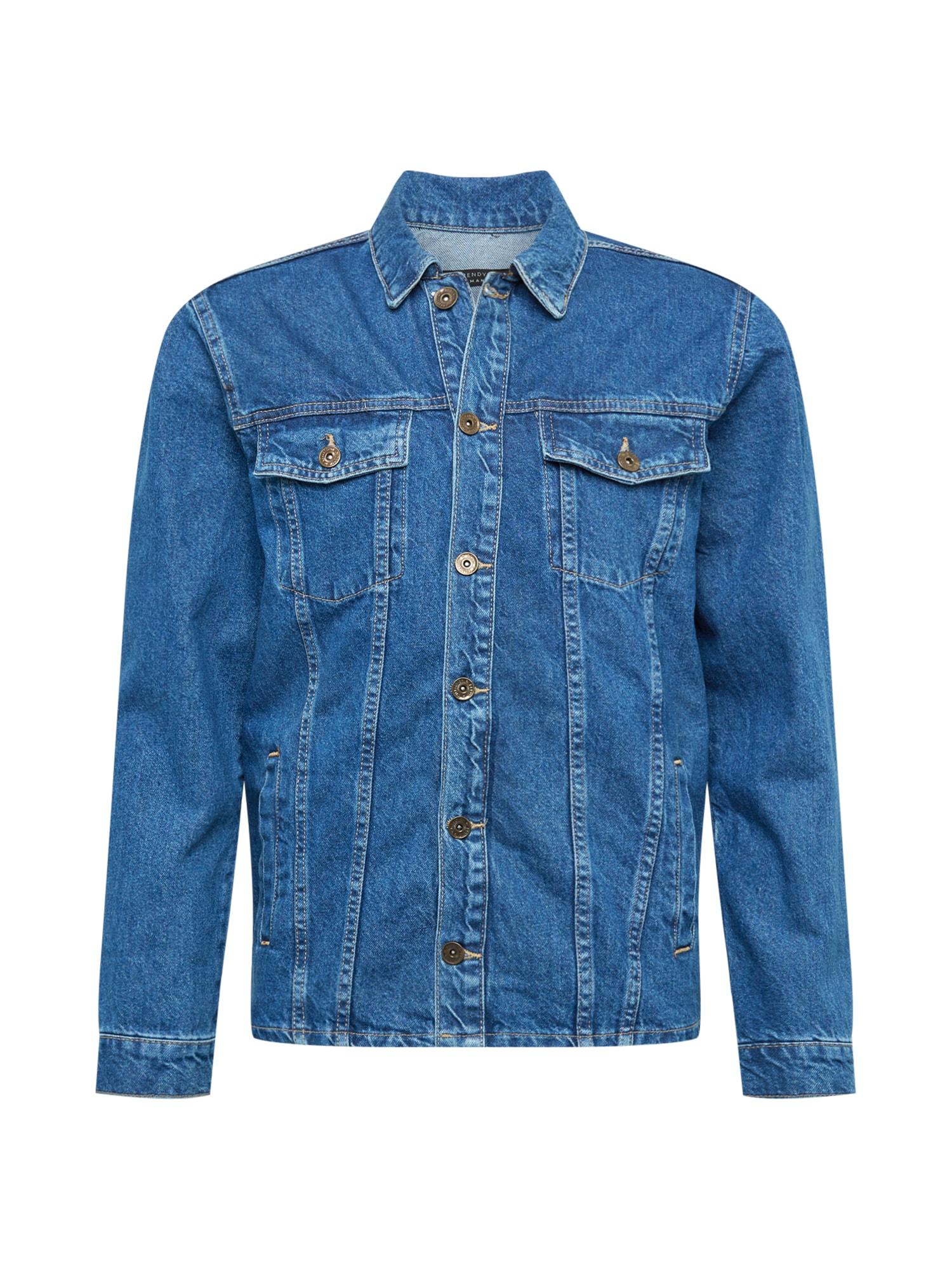 Trendyol Demisezoninė striukė tamsiai (džinso) mėlyna