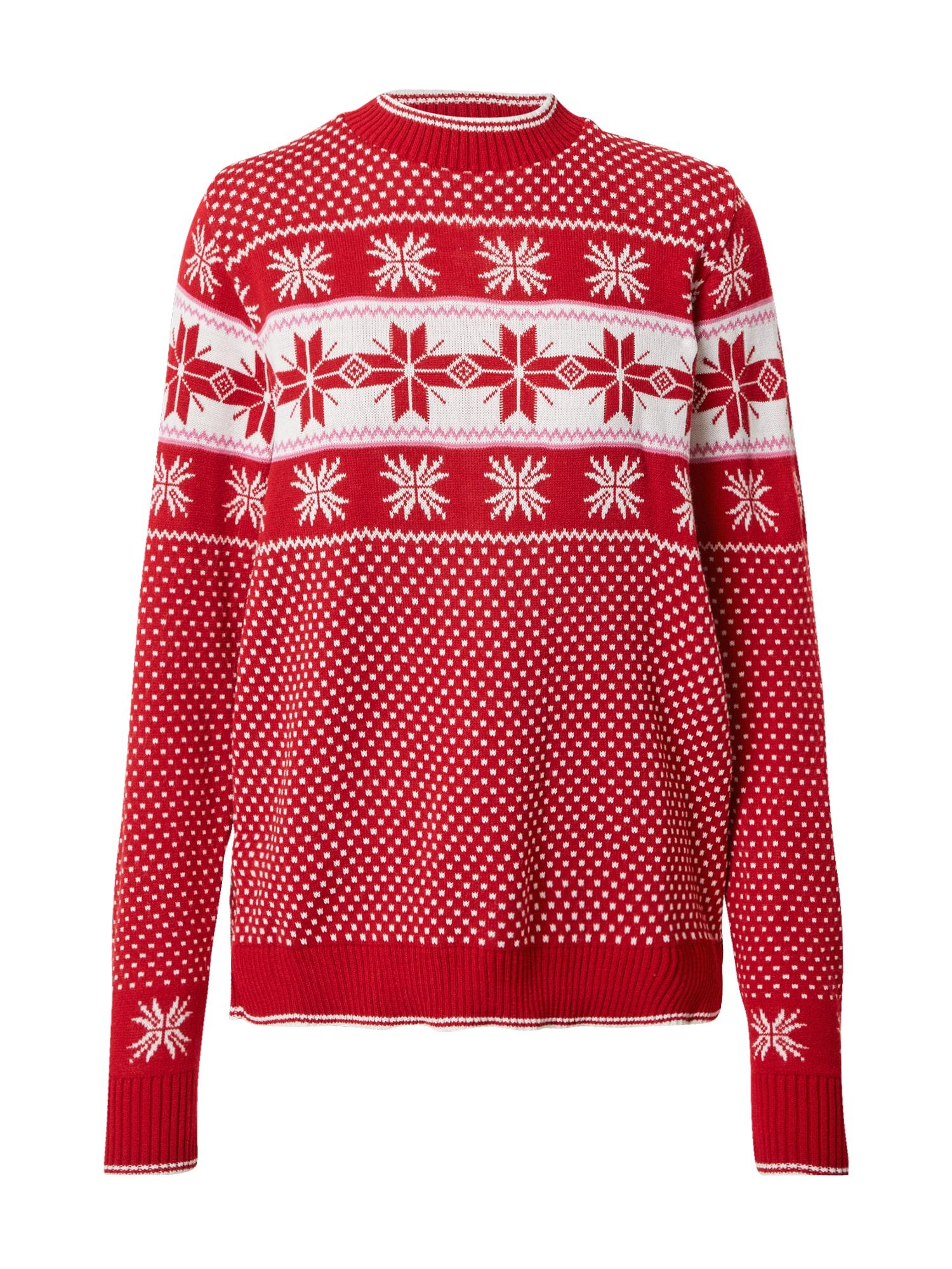Missguided (Petite) Megztinis raudona / balta