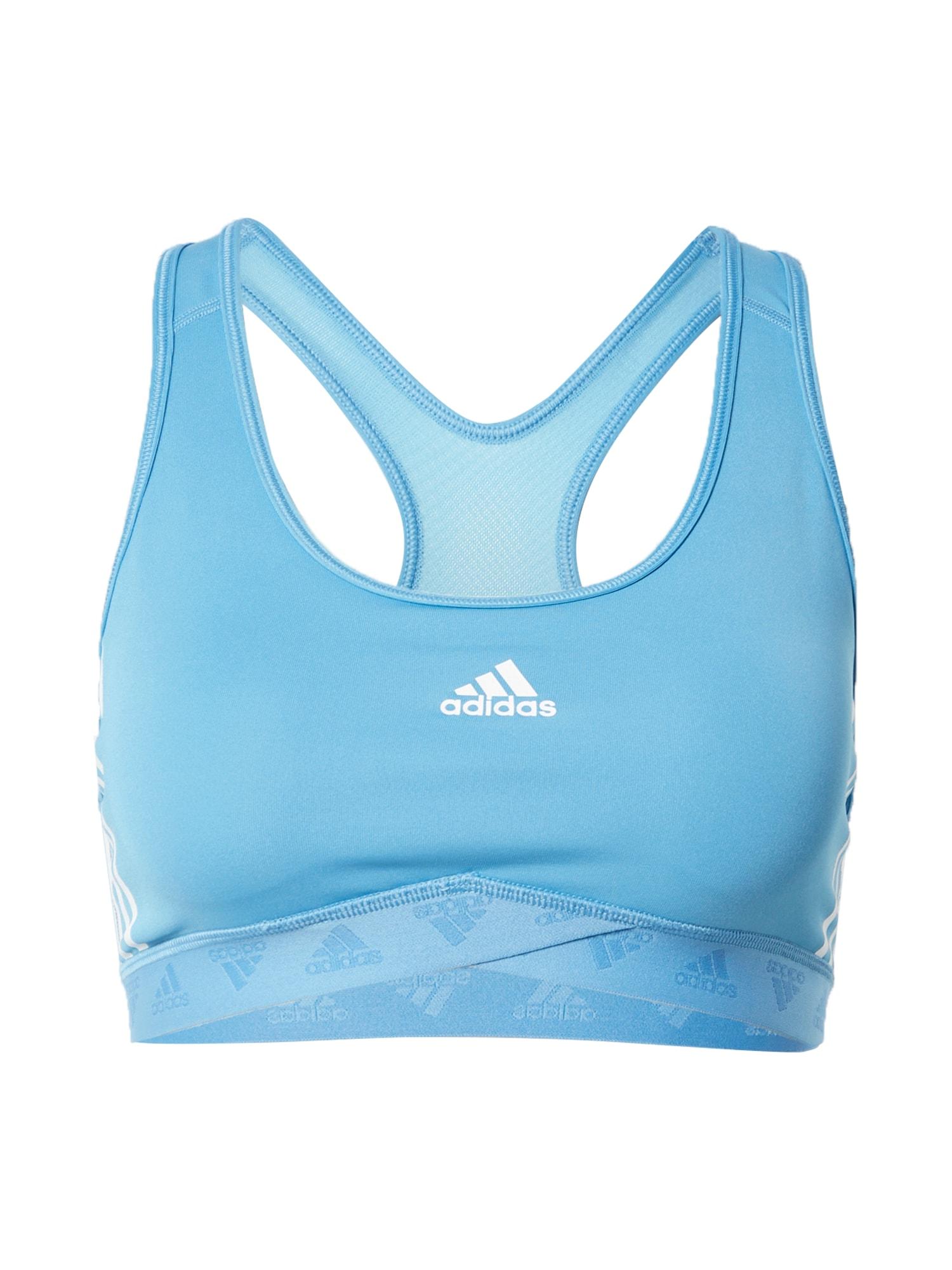 ADIDAS PERFORMANCE Sportinė liemenėlė šviesiai mėlyna