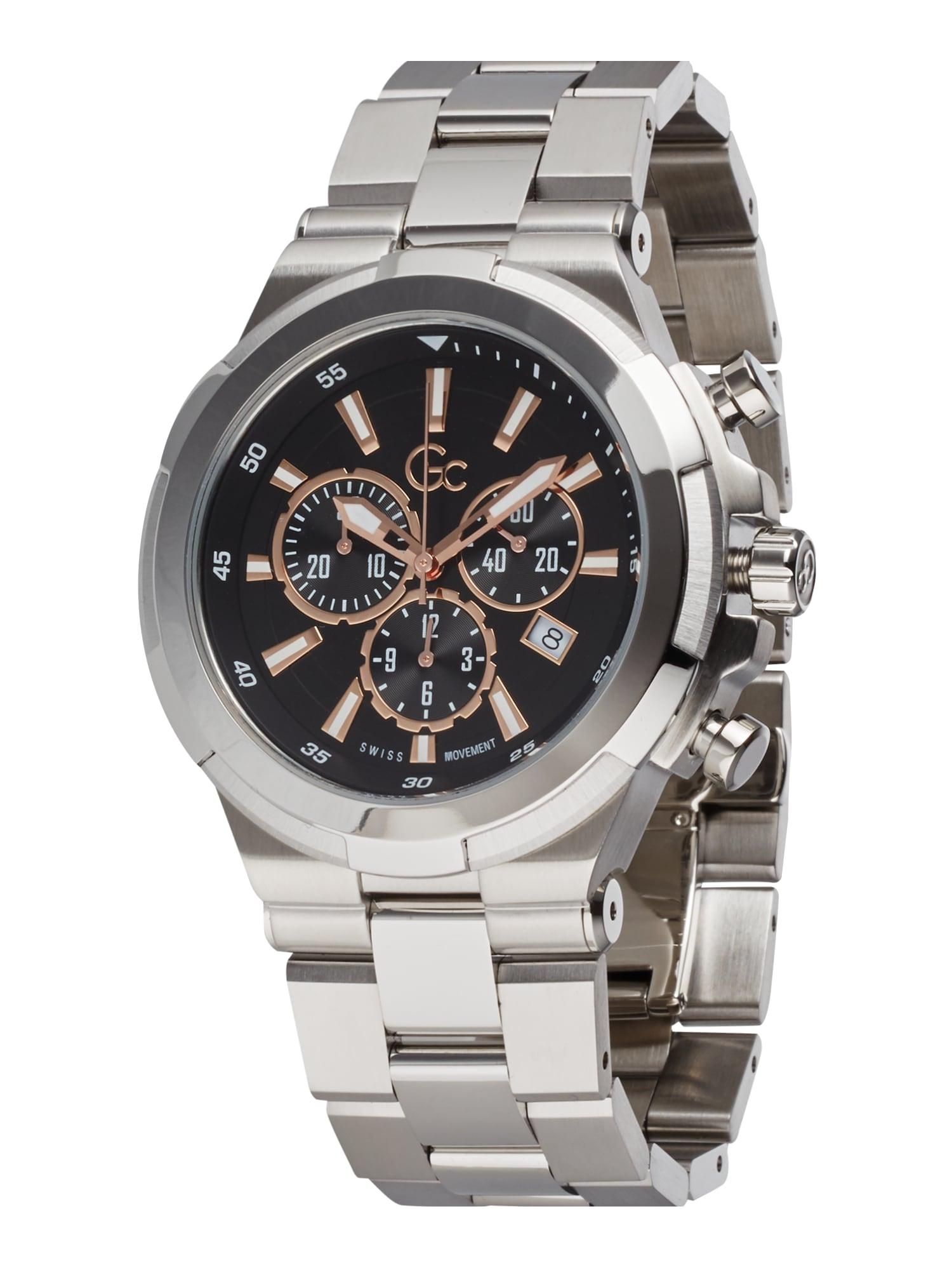 Gc Analoginis (įprasto dizaino) laikrodis 'Structura' sidabrinė / juoda