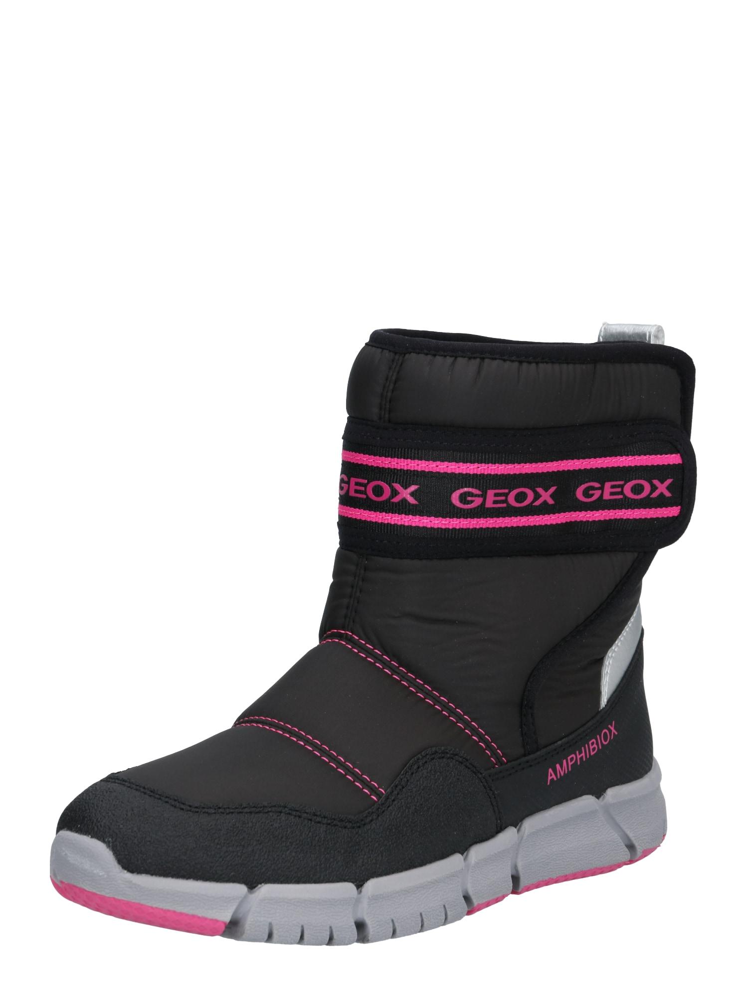 GEOX Sniego batai rožinė / juoda