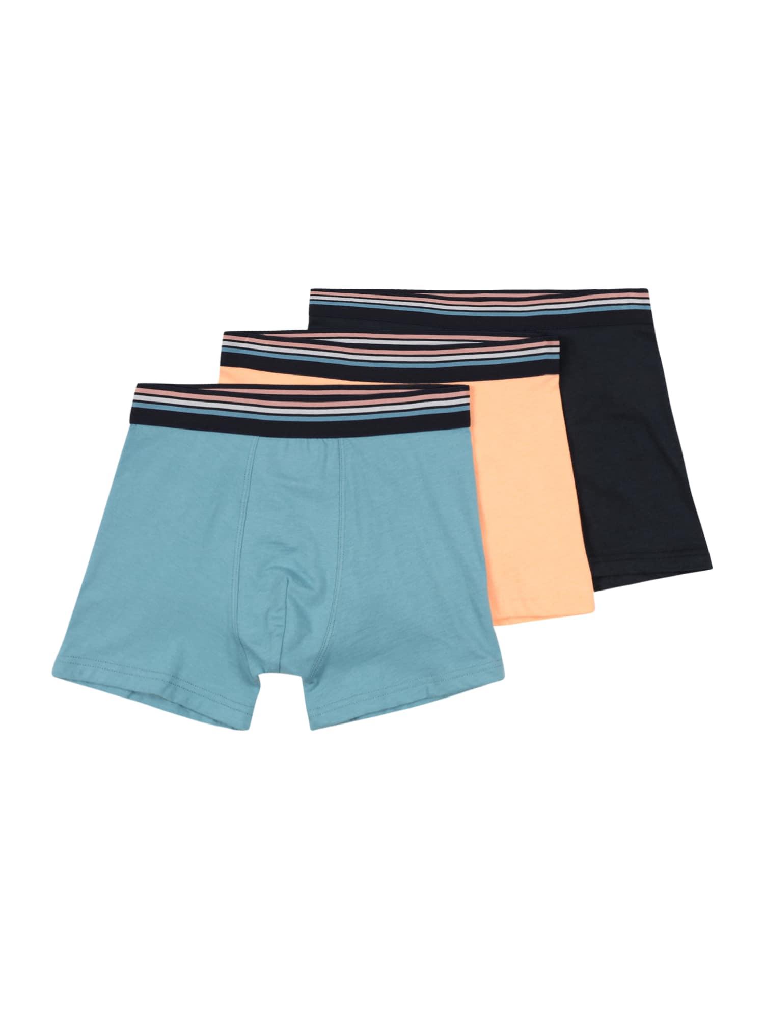 SANETTA Apatinės kelnaitės tamsiai mėlyna / mėlyna dūmų spalva / persikų spalva / balta / ryškiai rožinė spalva