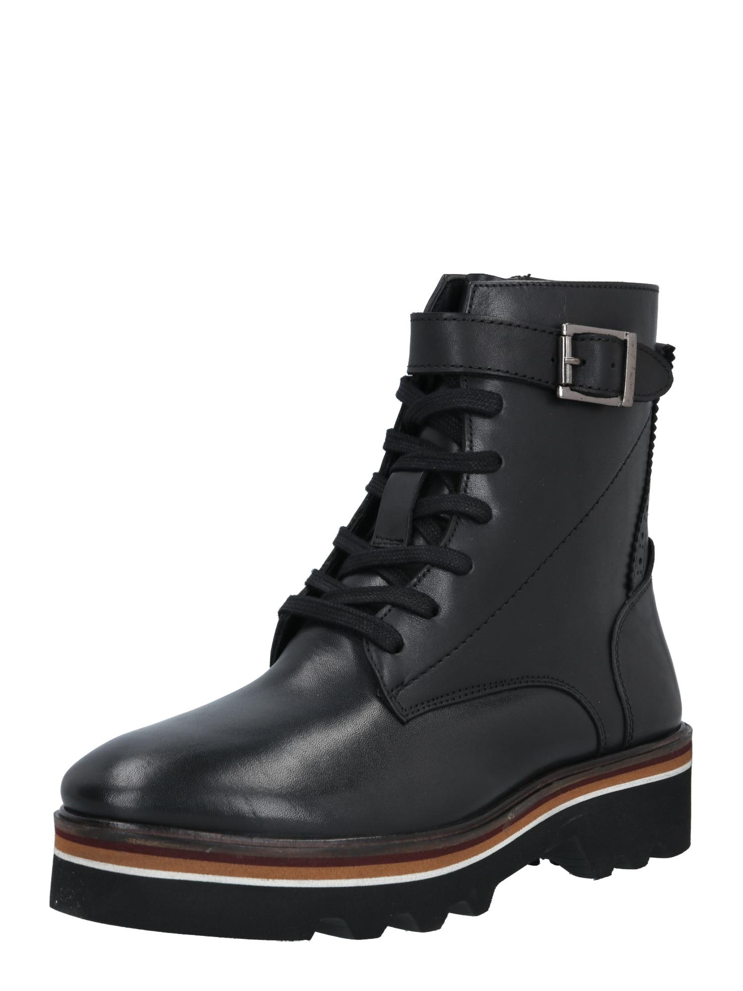 MAHONY Suvarstomieji kulkšnis dengiantys batai juoda