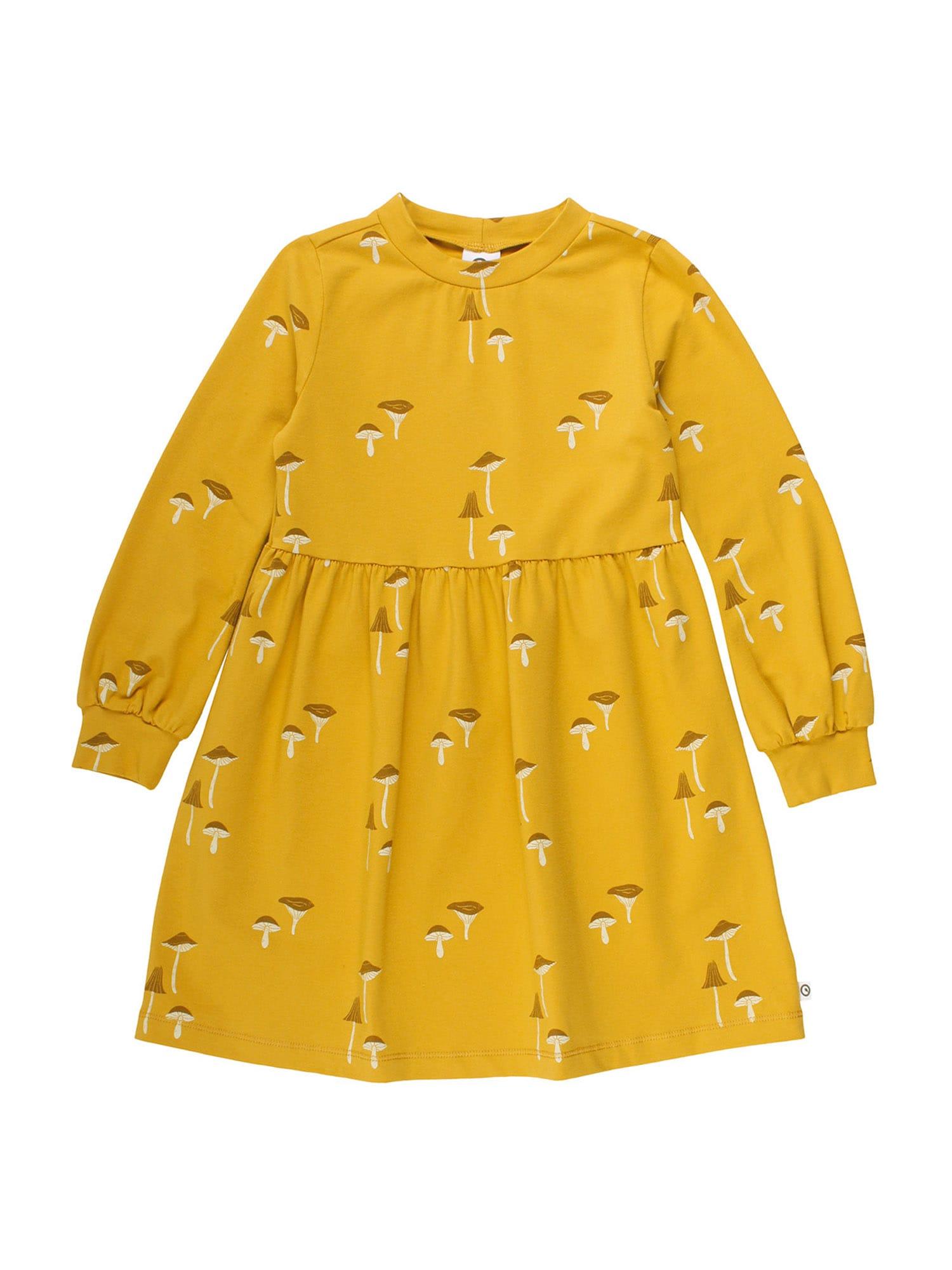 Müsli by GREEN COTTON Suknelė aukso geltonumo spalva / šviesiai geltona / kario spalva