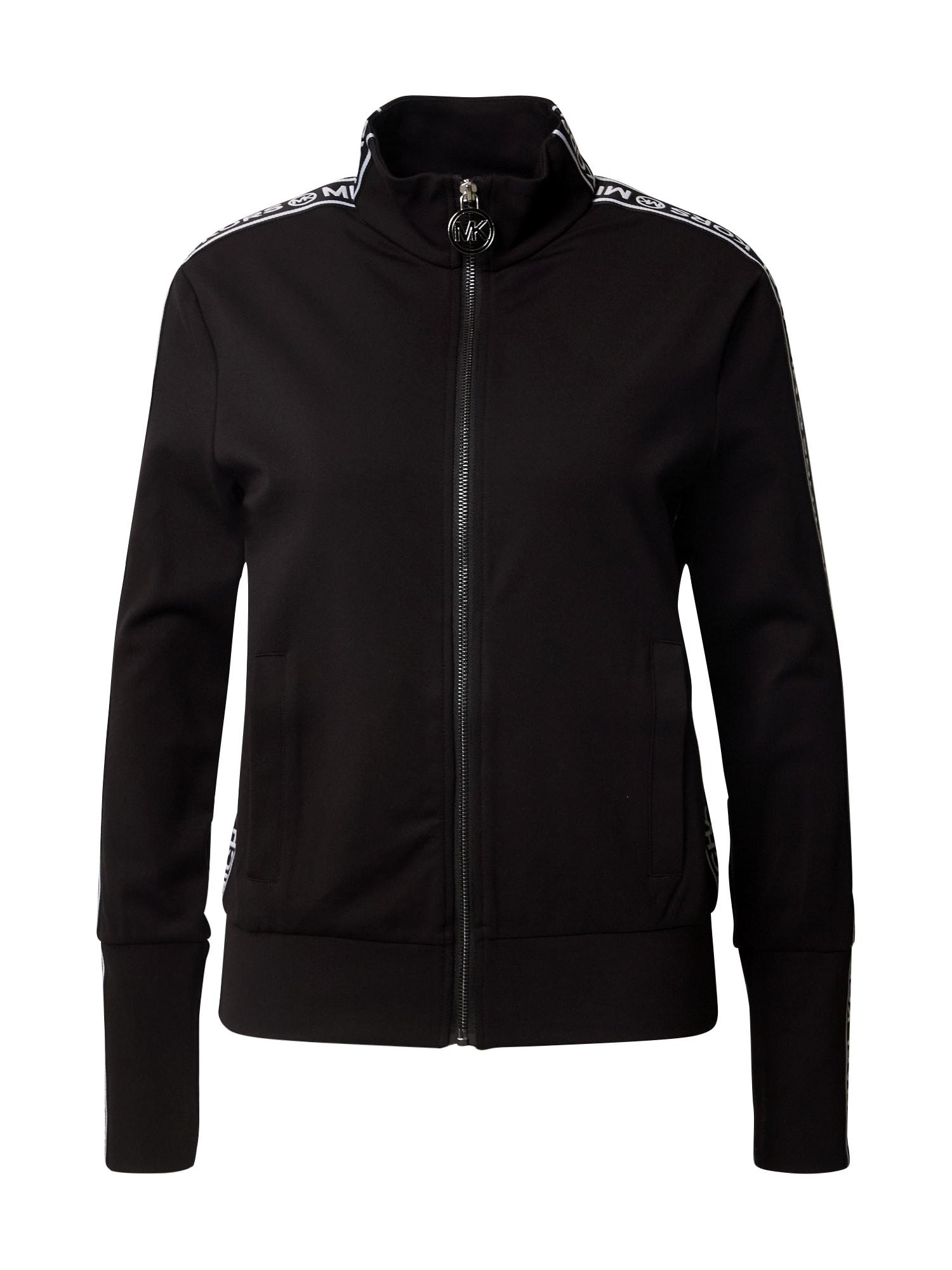 MICHAEL Michael Kors Džemperis juoda / balta