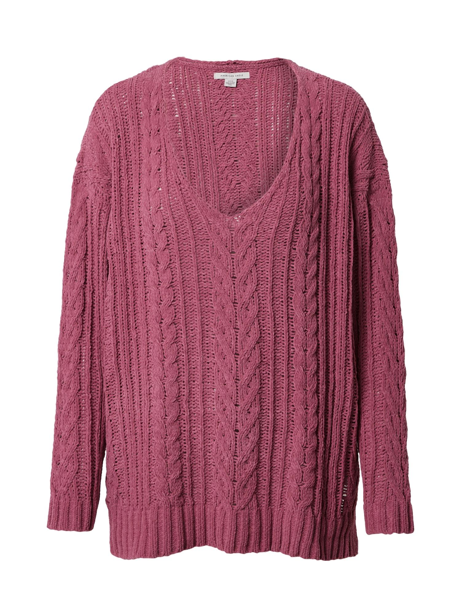 American Eagle Megztinis uogų spalva