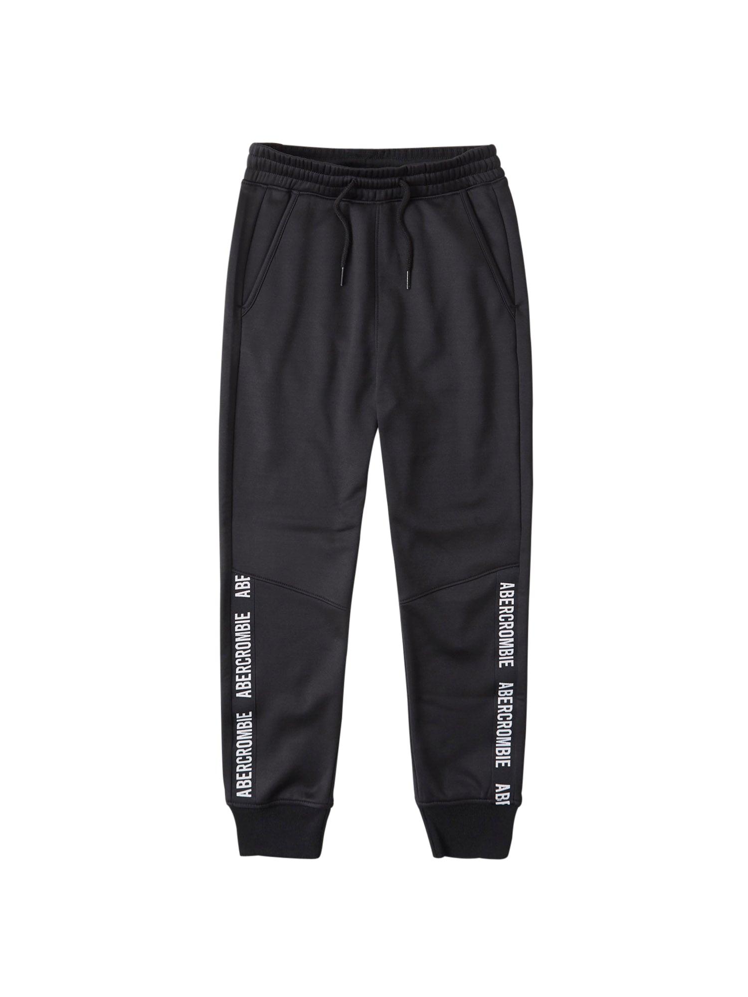 Abercrombie & Fitch Kelnės juoda / balta