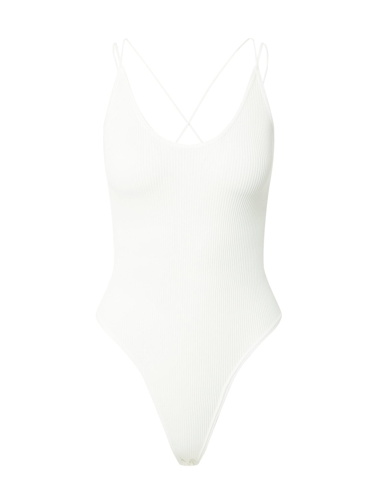BDG Urban Outfitters Marškinėliai-glaustinukė balta