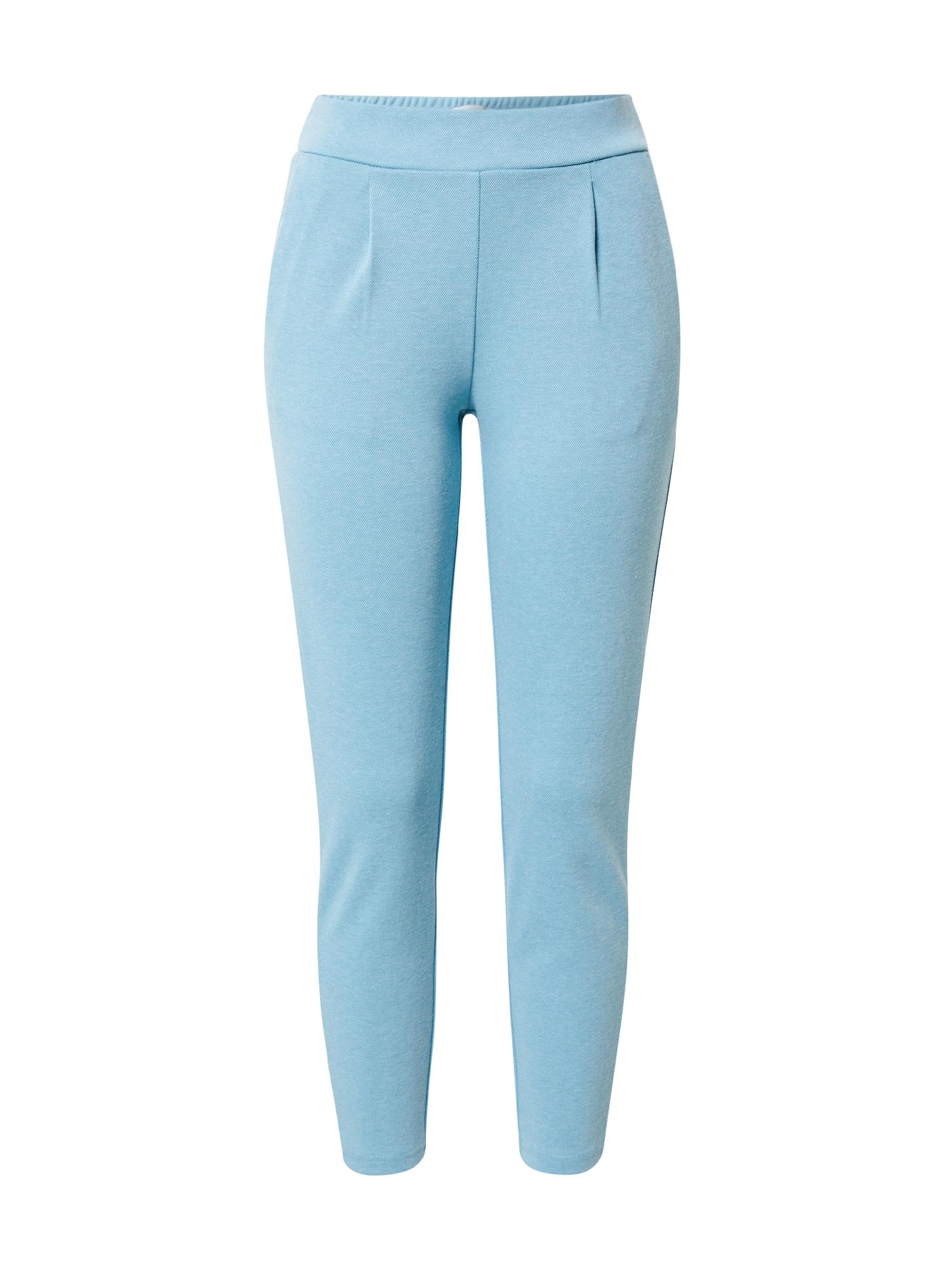 ICHI Klostuotos kelnės šviesiai mėlyna