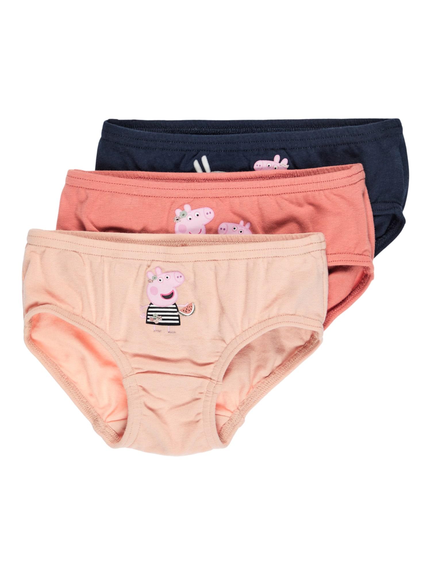 NAME IT Spodní prádlo 'Peppa Pig Andrea'  pastelově oranžová / lososová / noční modrá / světle růžová / černá
