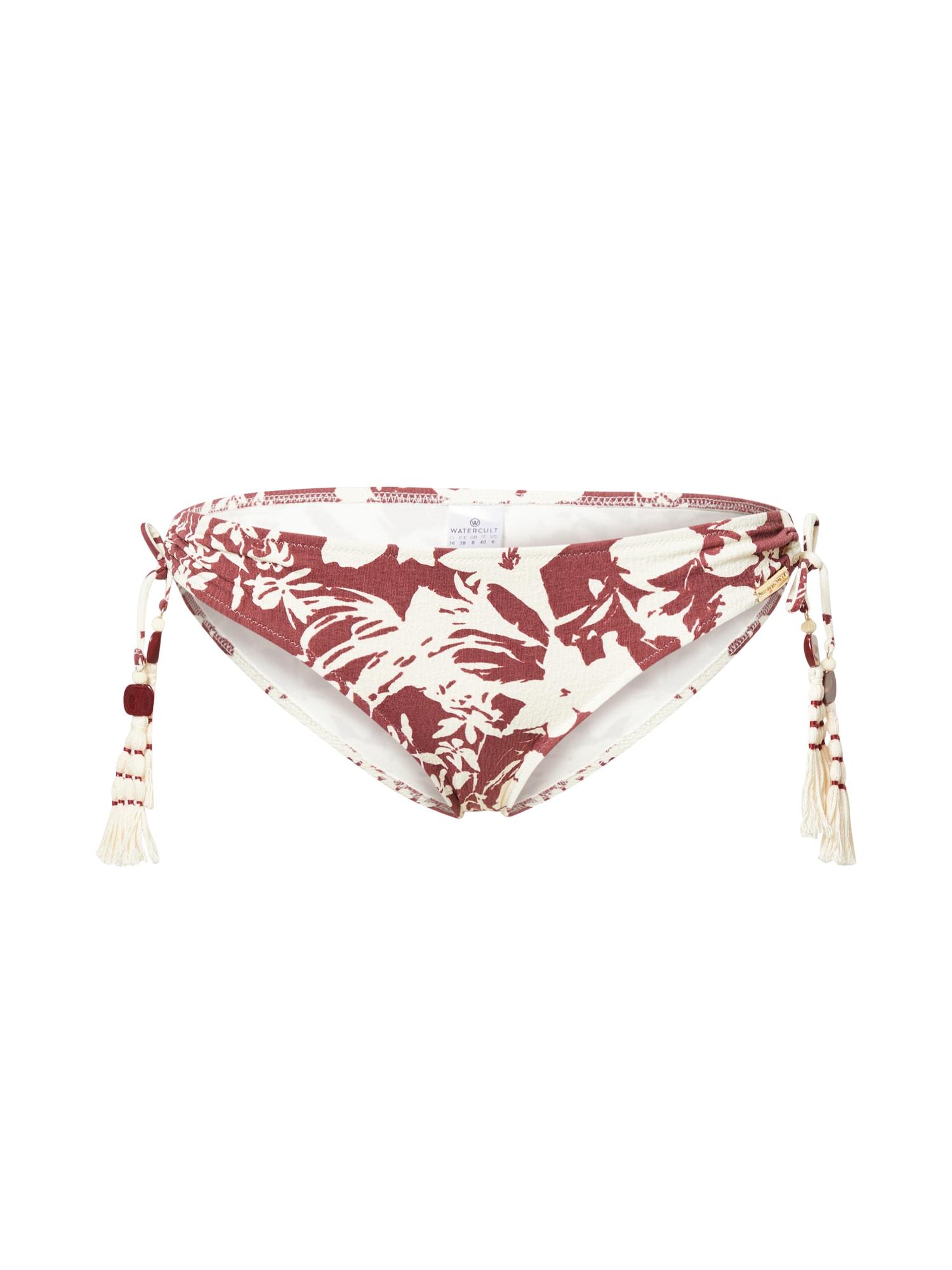 watercult Bikinio kelnaitės pastelinė raudona / balta