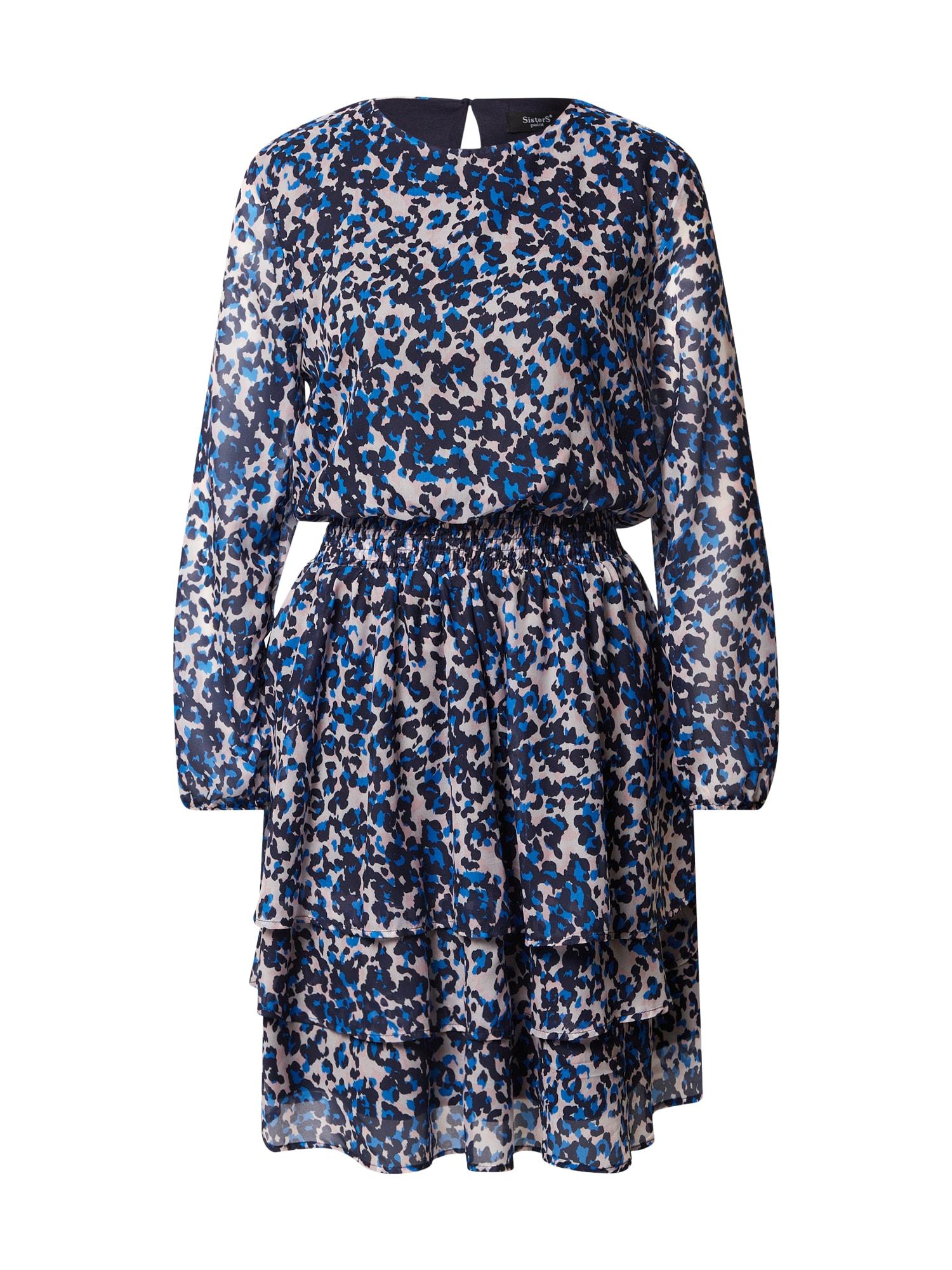 SISTERS POINT Šaty 'Nicoline'  modrá / krémová