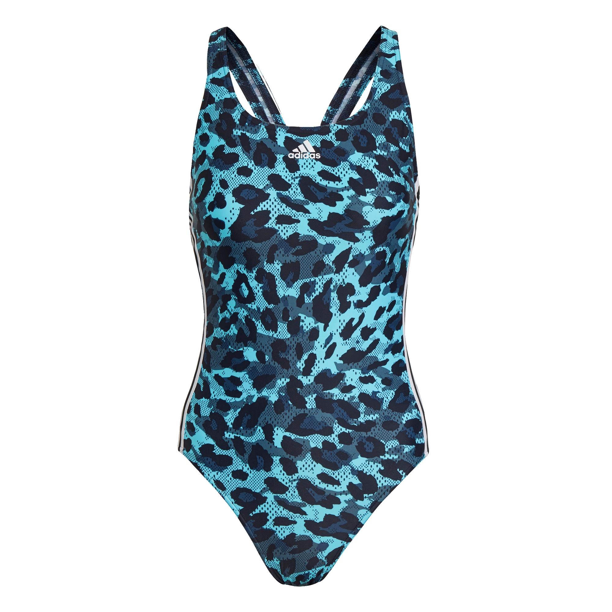 ADIDAS PERFORMANCE Sportovní plavky  aqua modrá / bílá / chladná modrá / tmavě modrá