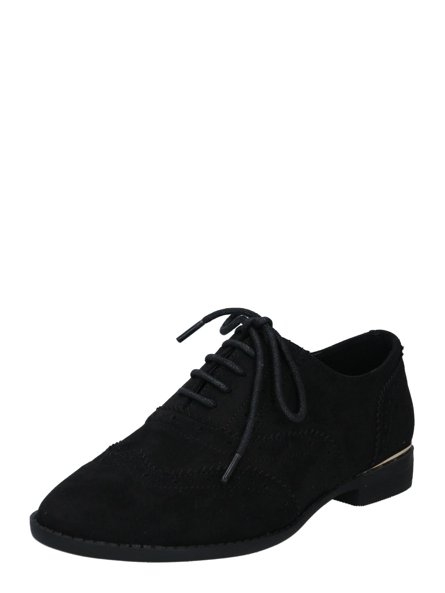 NEW LOOK Batai su raišteliais juoda