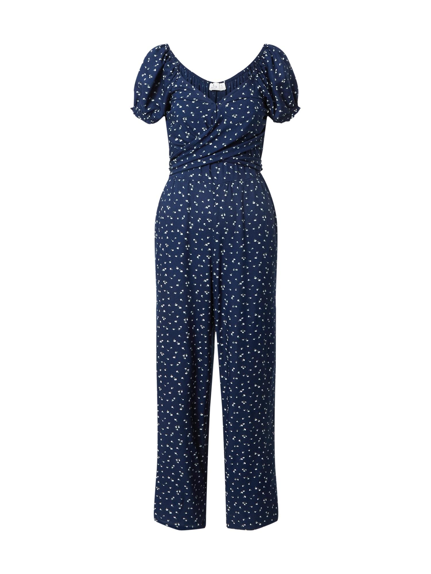 HOLLISTER Vienos dalies kostiumas tamsiai mėlyna / balta / šviesiai mėlyna