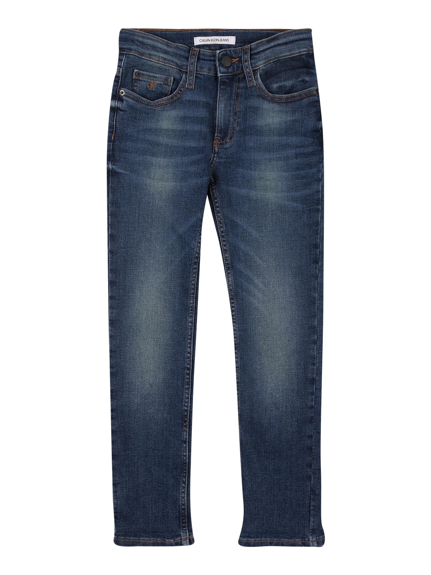 Calvin Klein Jeans Džinsai 'SLIM INDUS DARK BLUE STR' tamsiai (džinso) mėlyna