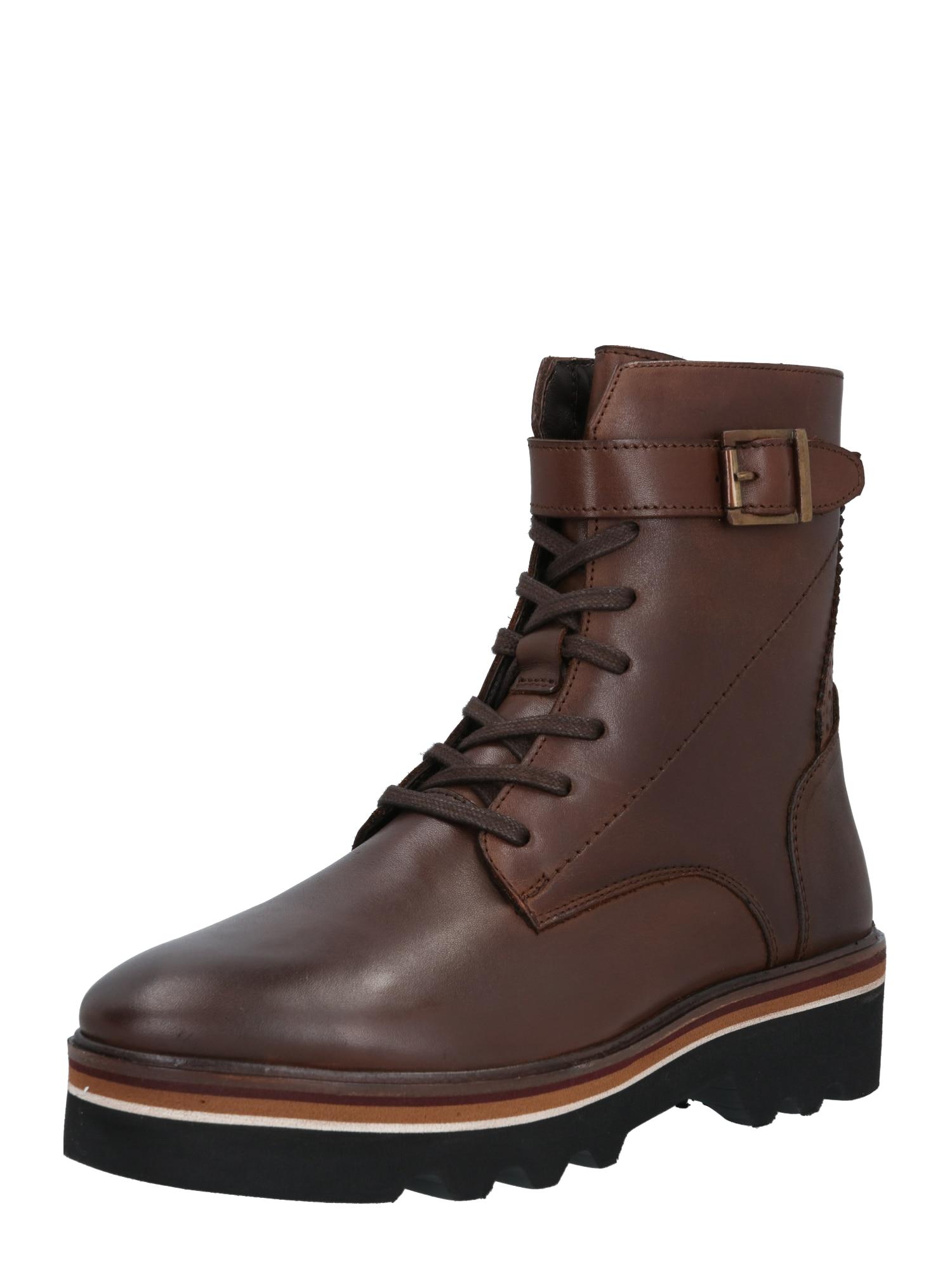 MAHONY Suvarstomieji kulkšnis dengiantys batai tamsiai ruda