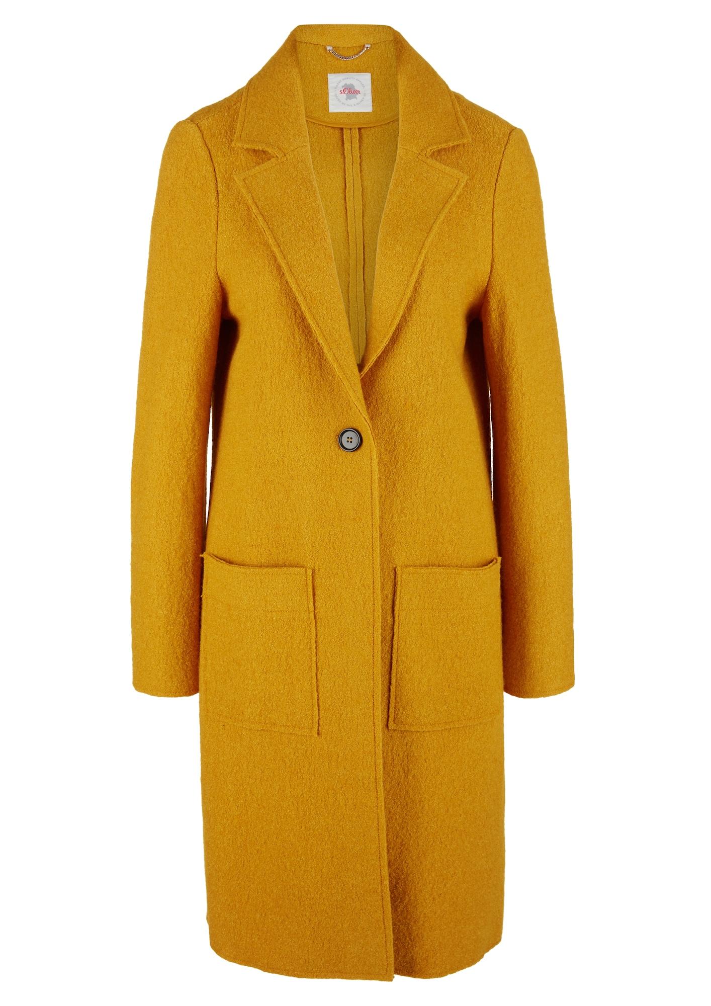 s.Oliver Přechodný kabát  žlutá