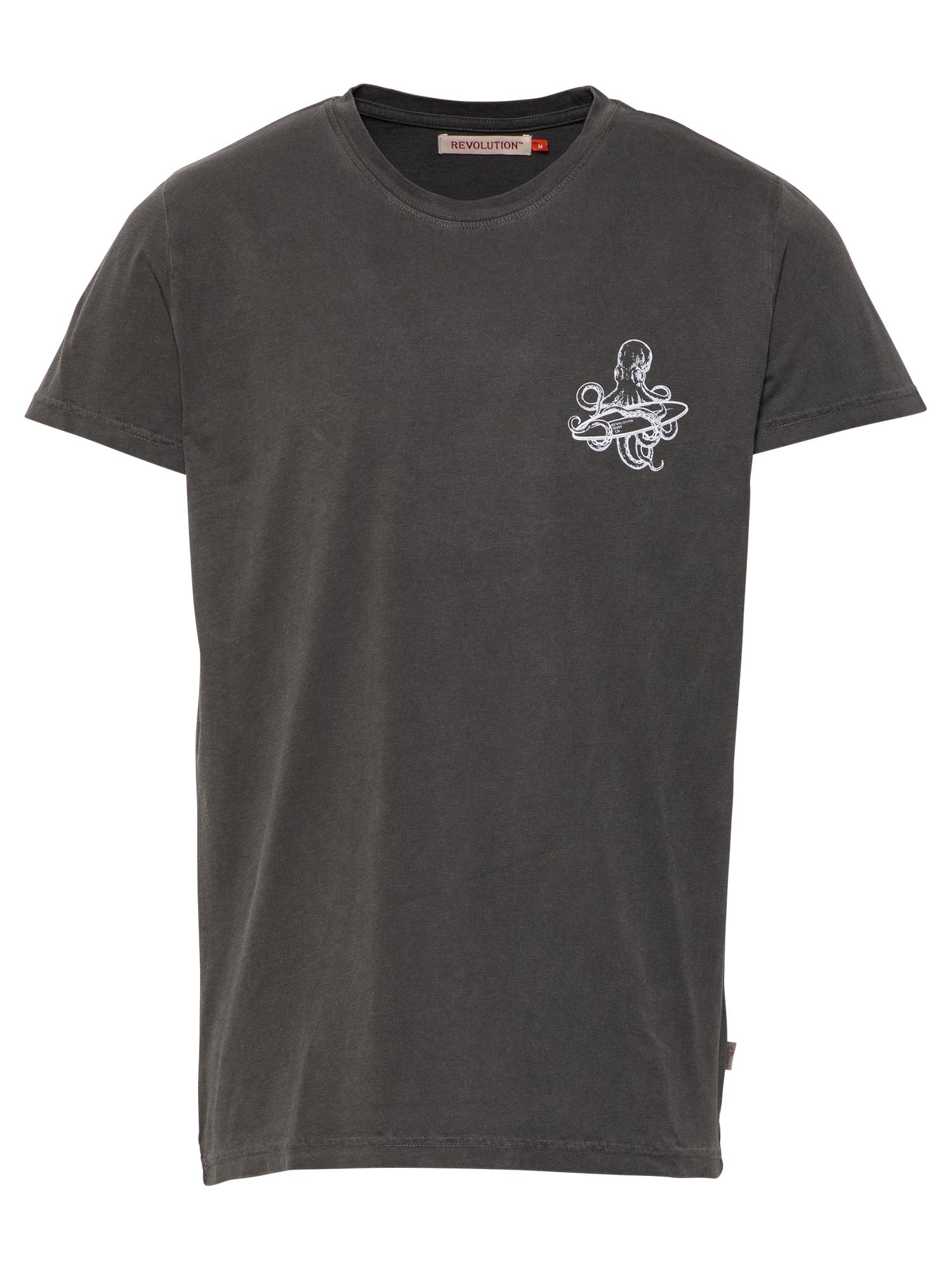 Revolution Marškinėliai juoda / balta