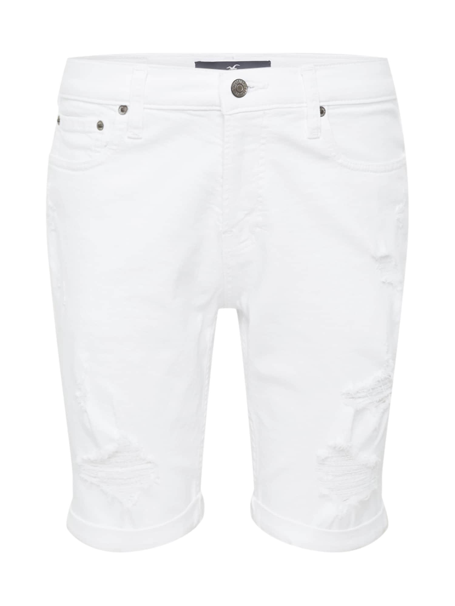 HOLLISTER Džinsai balto džinso spalva