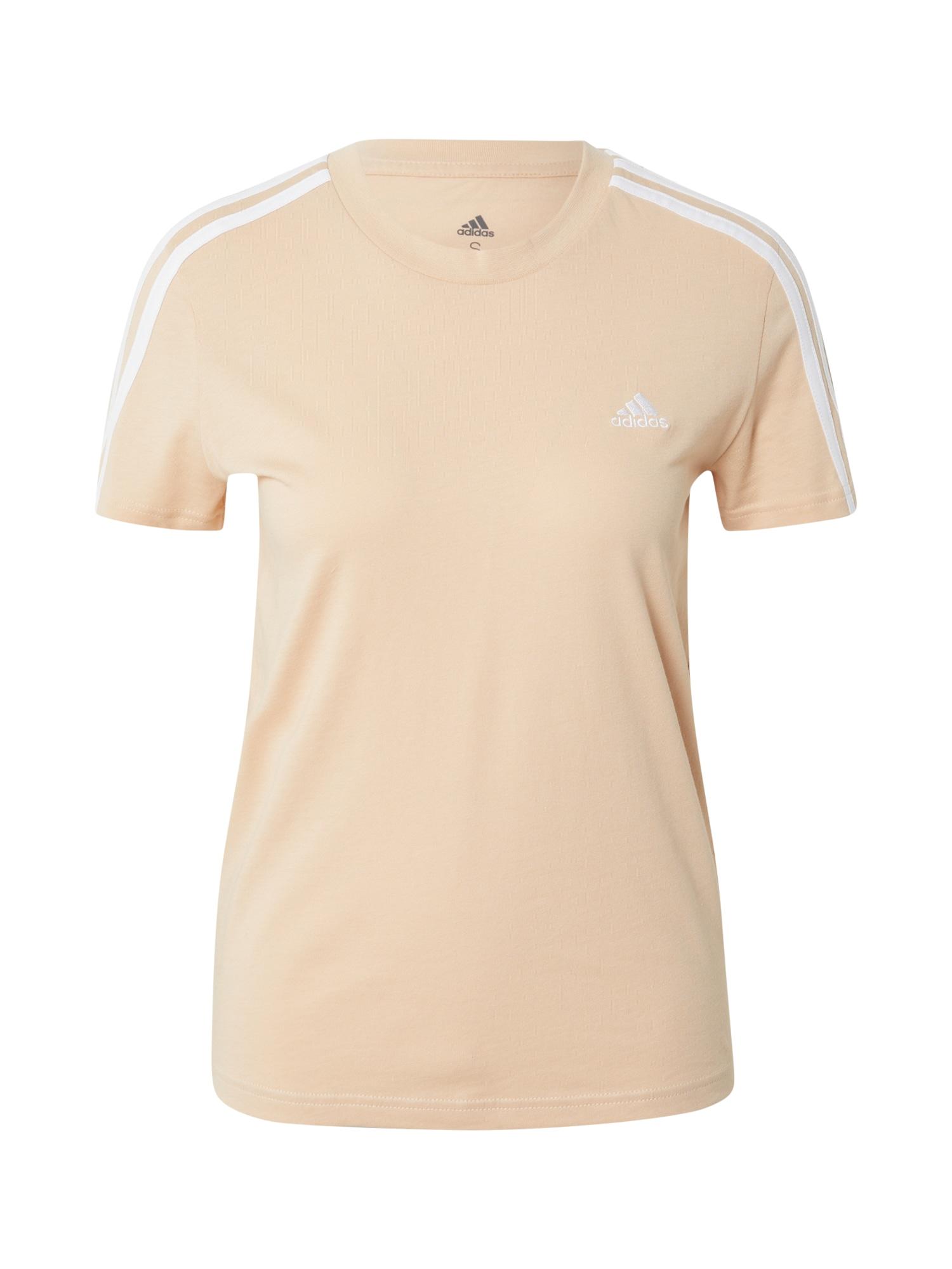 ADIDAS PERFORMANCE Funkční tričko  pudrová / bílá