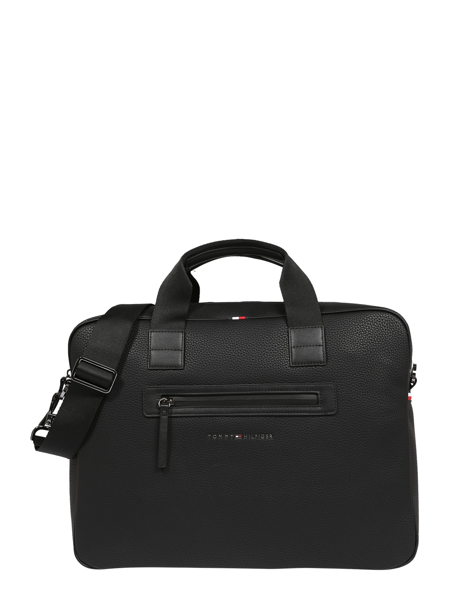 TOMMY HILFIGER Nešiojamo kompiuterio krepšys juoda
