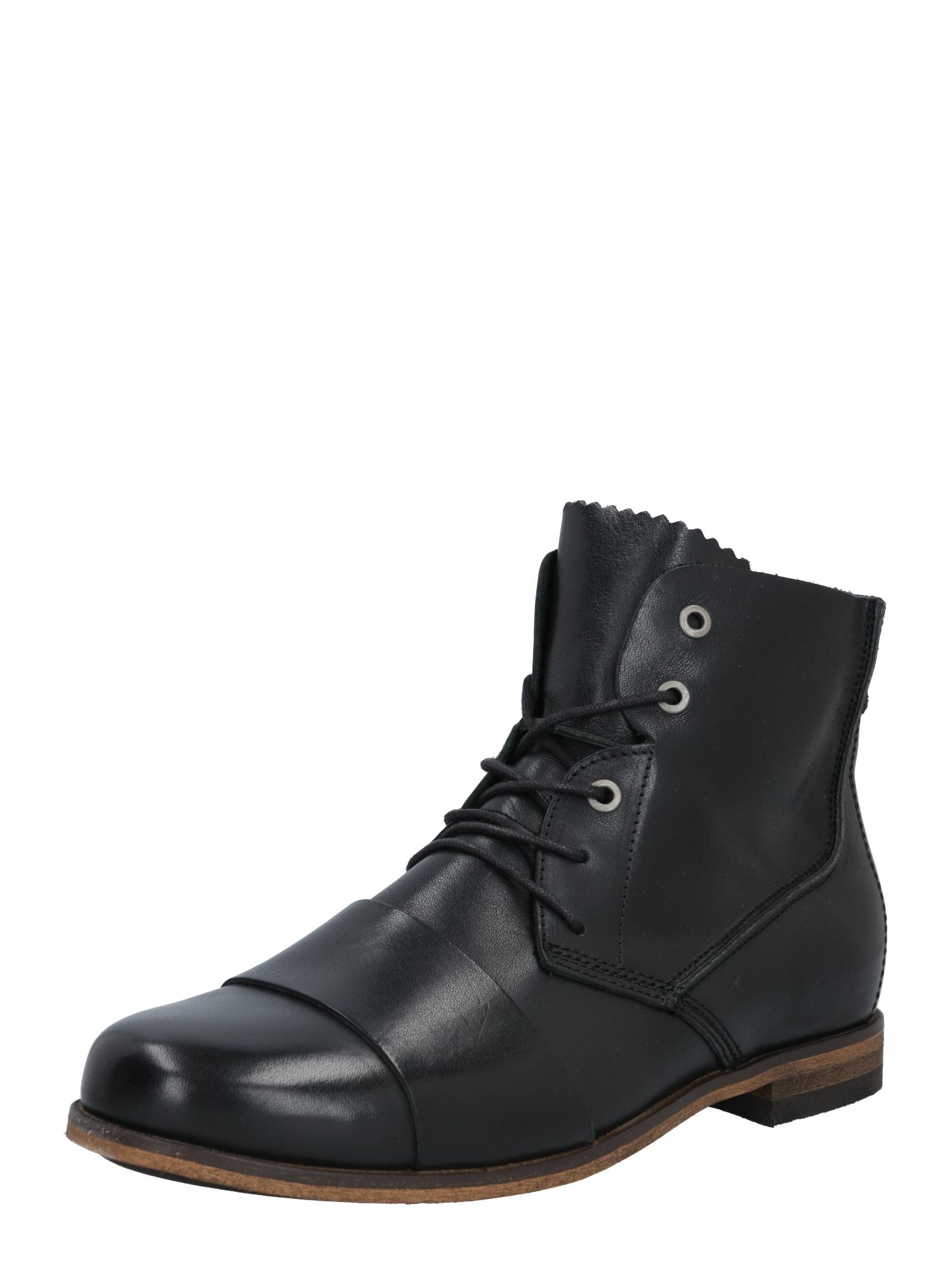HUB Auliniai batai su raišteliais juoda