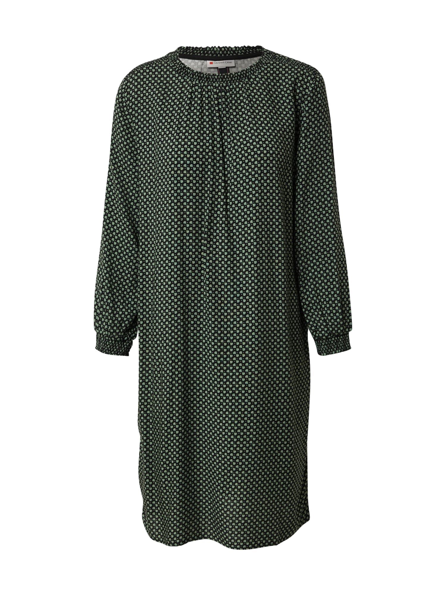 STREET ONE Šaty  světle zelená / černá