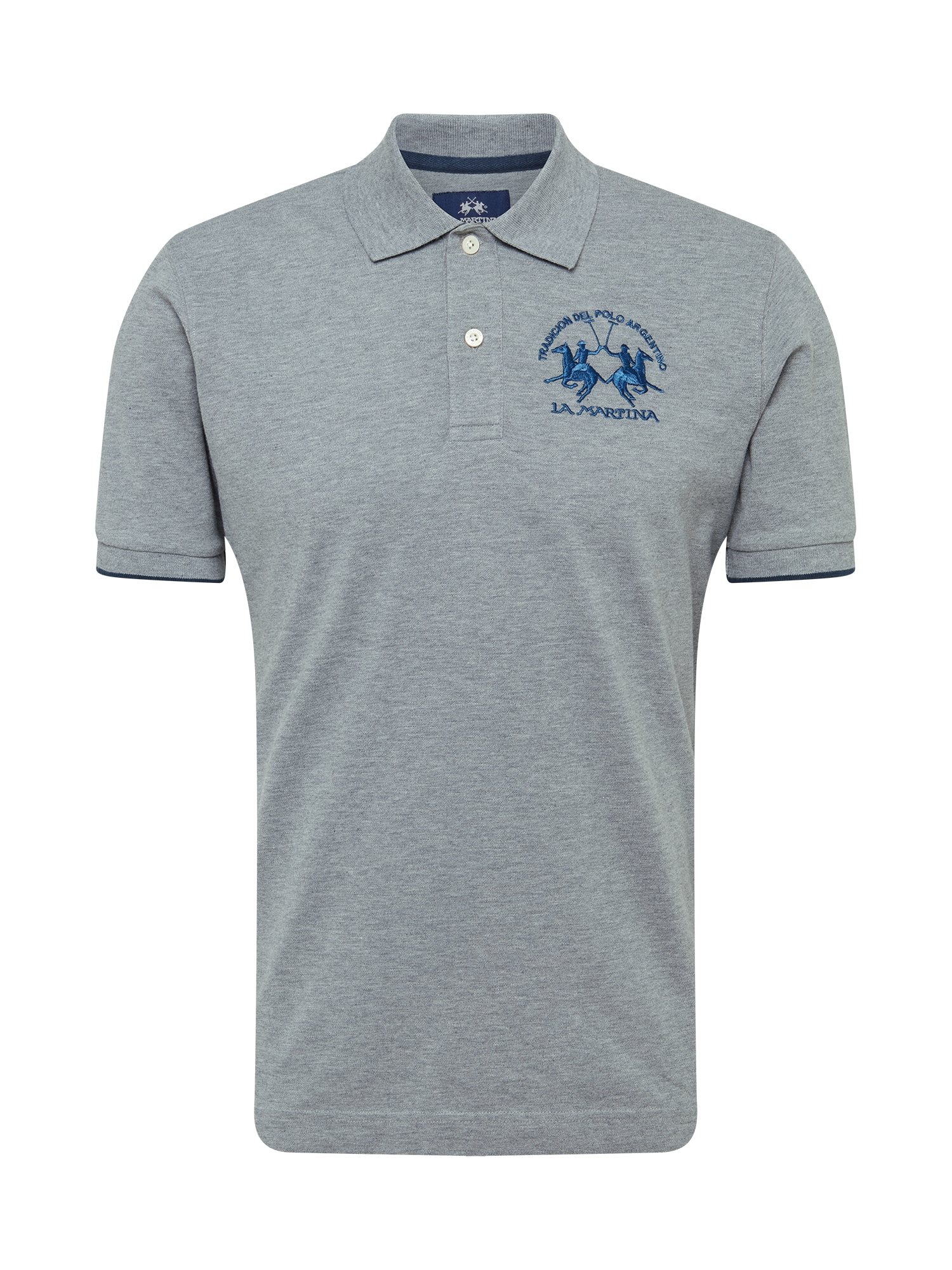 La Martina Marškinėliai margai pilka / mėlyna