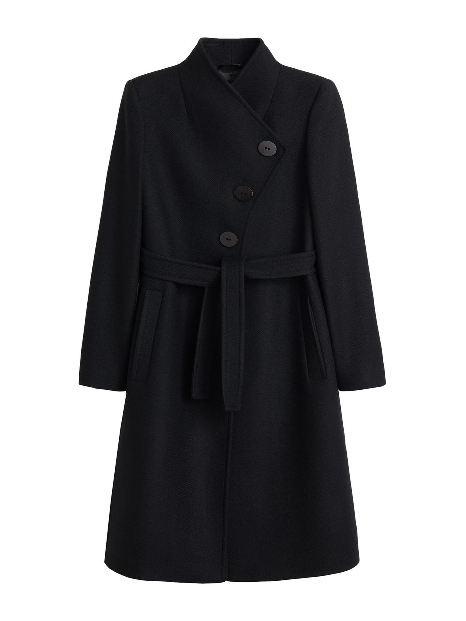 MANGO Přechodný kabát 'Luna 5'  černá