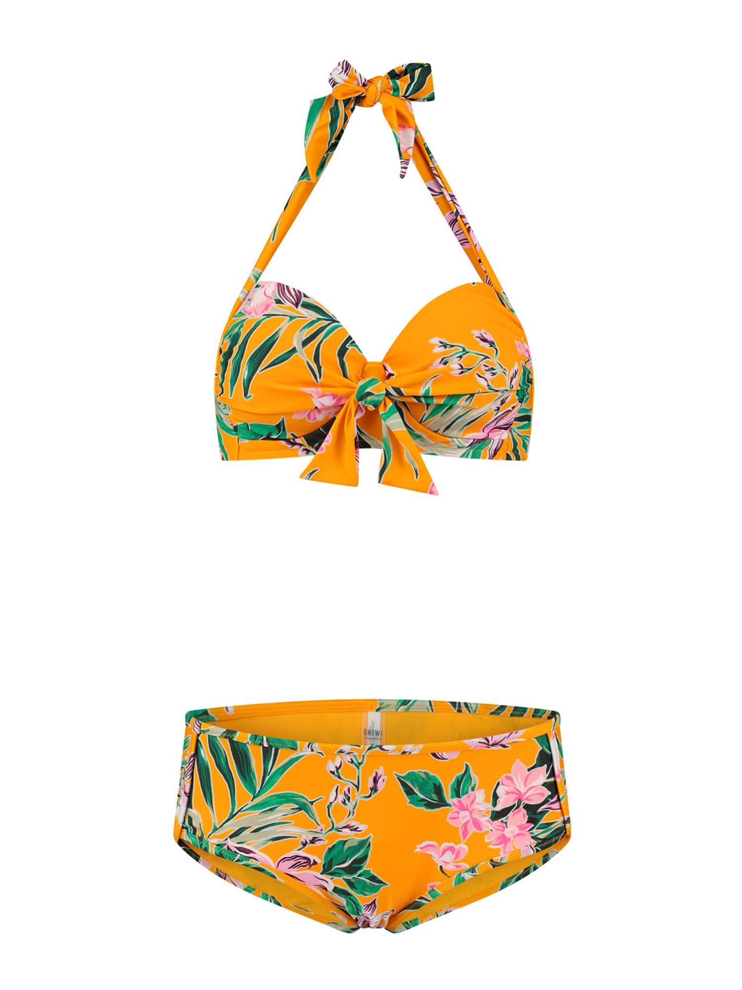 Shiwi Bikiny  oranžová / ružová / biela / zelená