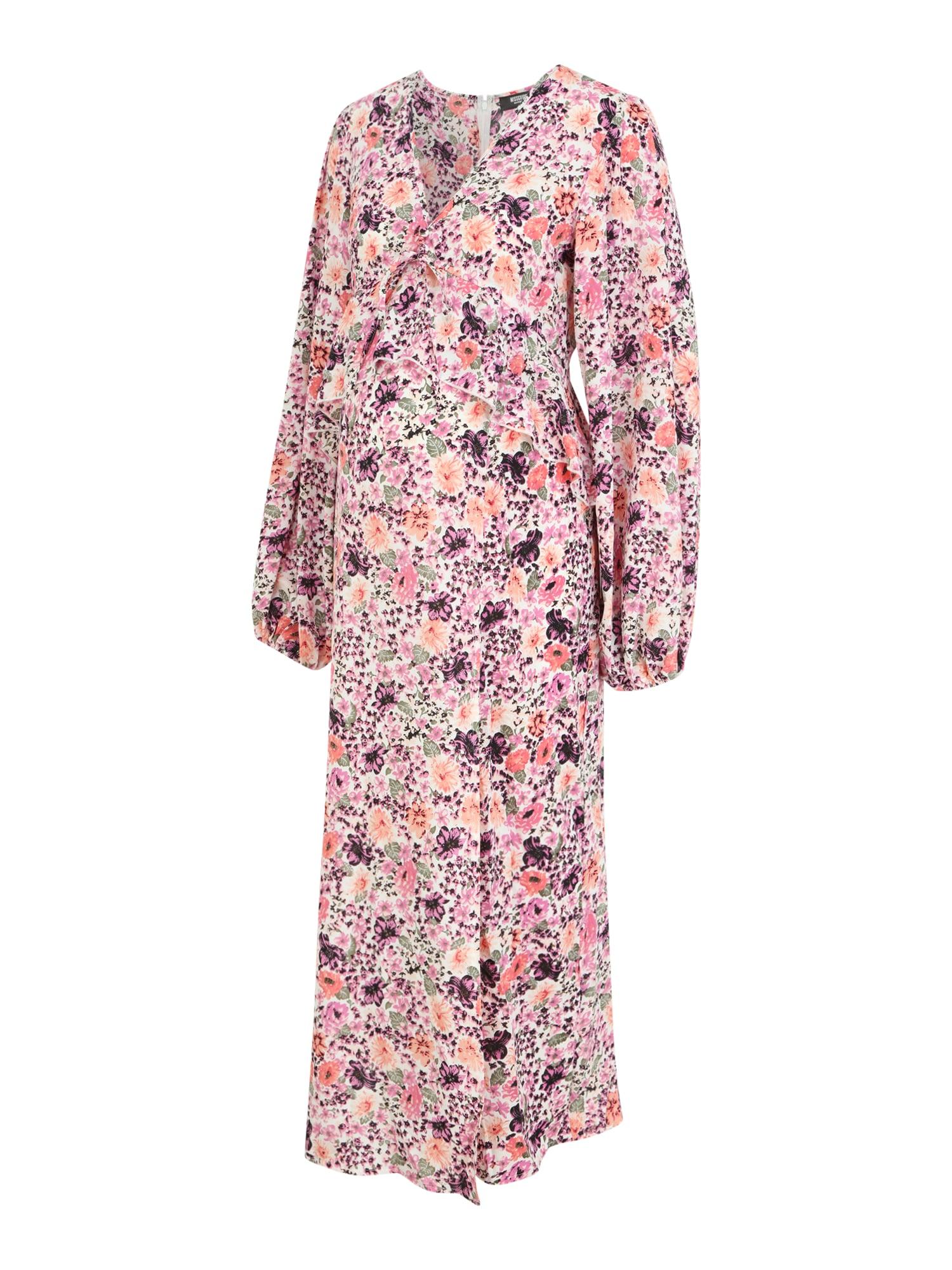 Missguided Maternity Suknelė rožinė / purpurinė / koralų splava / žalia