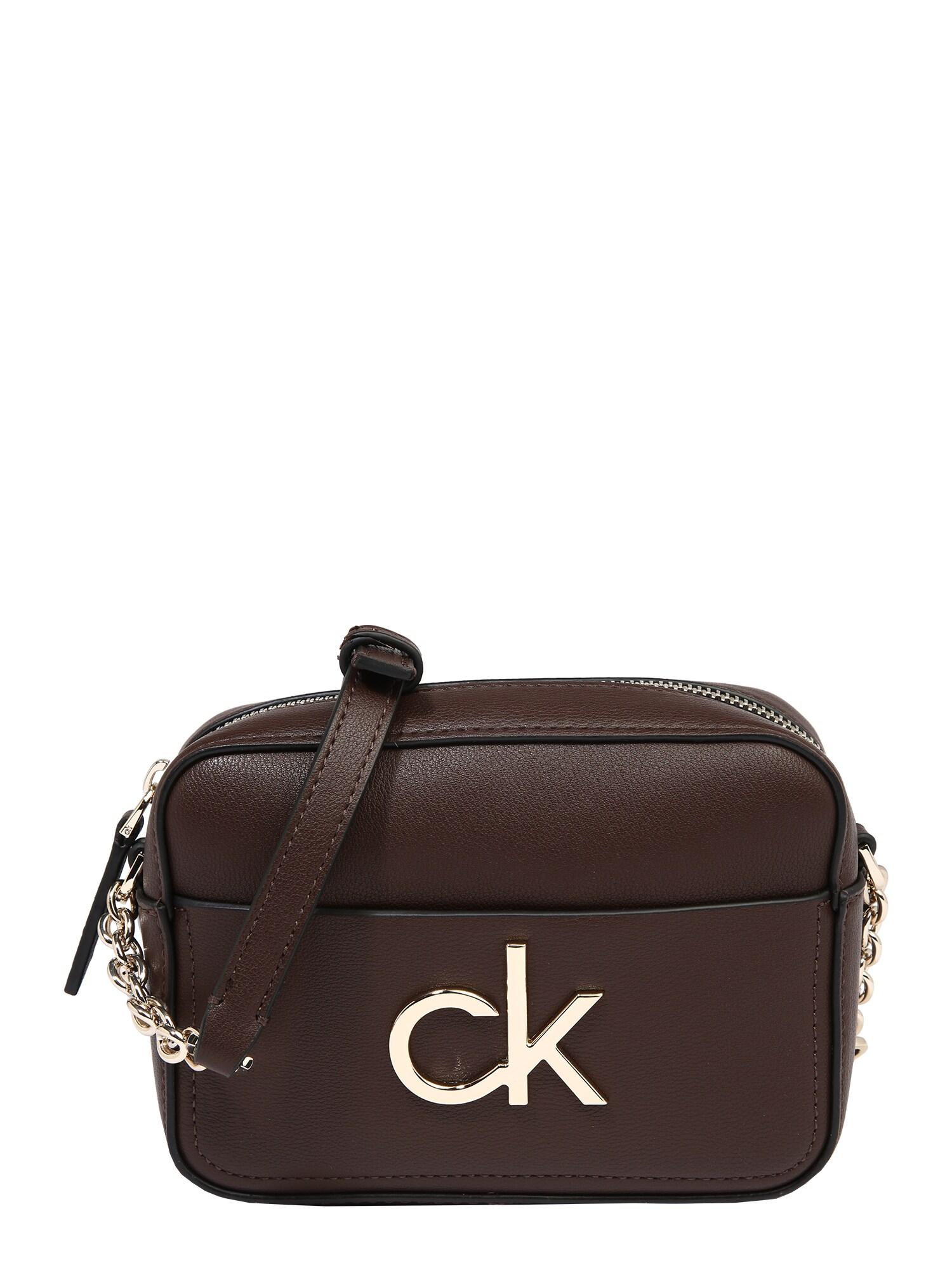 Calvin Klein Fotoaparato dėklas tamsiai ruda / auksas