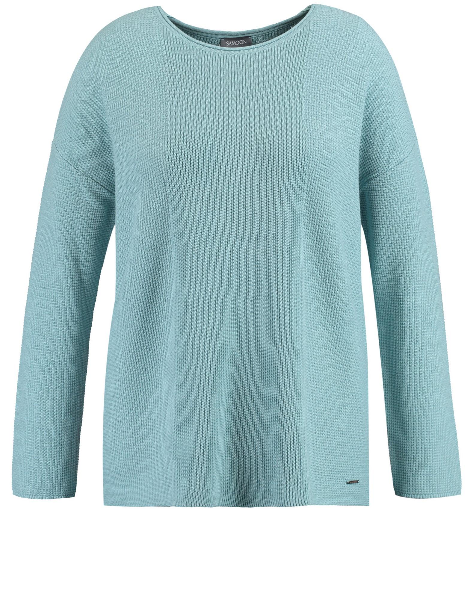 SAMOON Megztinis mėlyna