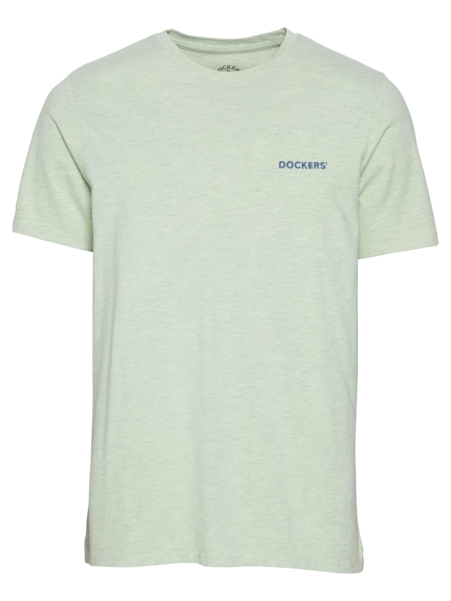 Dockers Marškinėliai šviesiai žalia / tamsiai mėlyna
