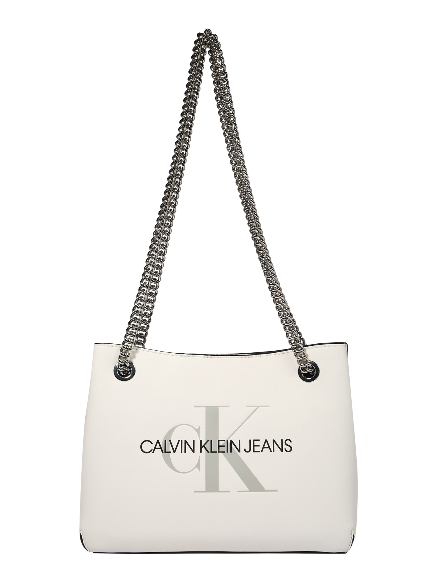Calvin Klein Jeans Rankinė ant peties balta / juoda / bazalto pilka