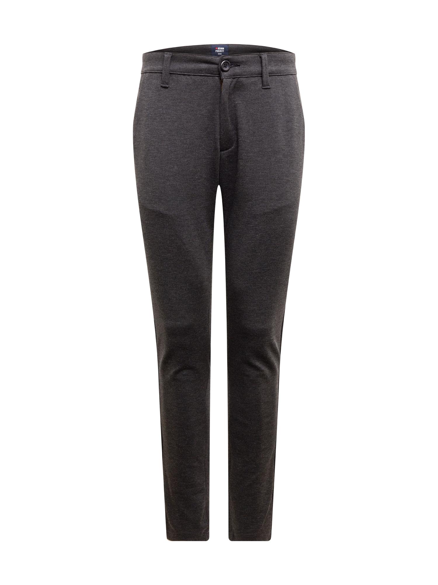 Denim Project Chino kalhoty 'Ponte Roma Plain'  tmavě šedá