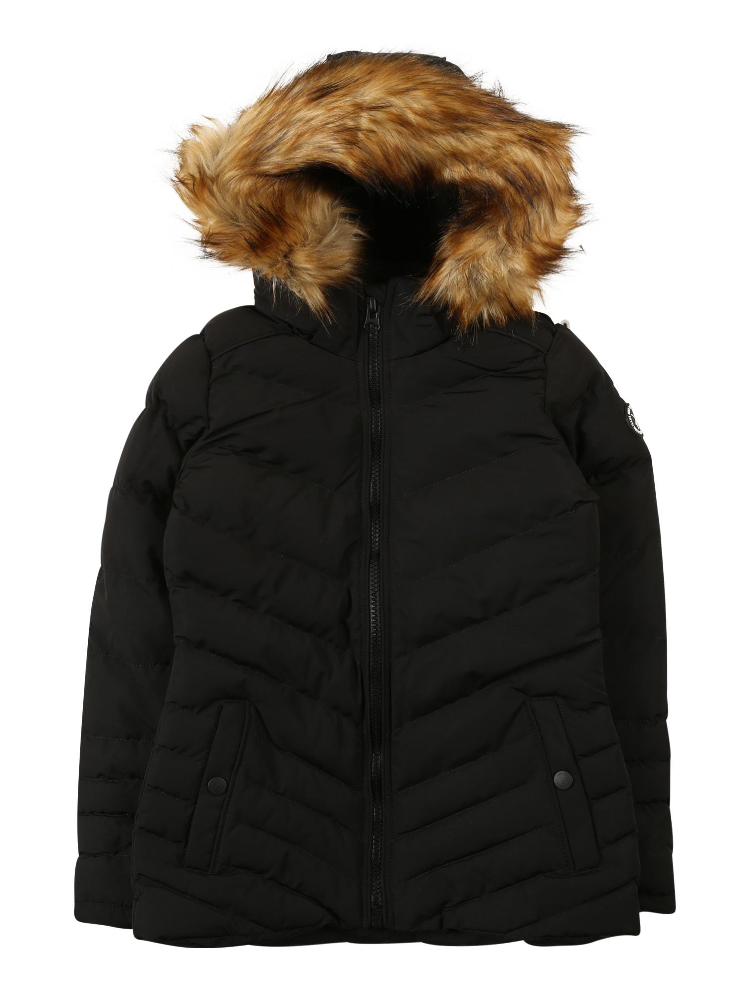 Cars Jeans Žieminė striukė 'COLETA' juoda / ruda