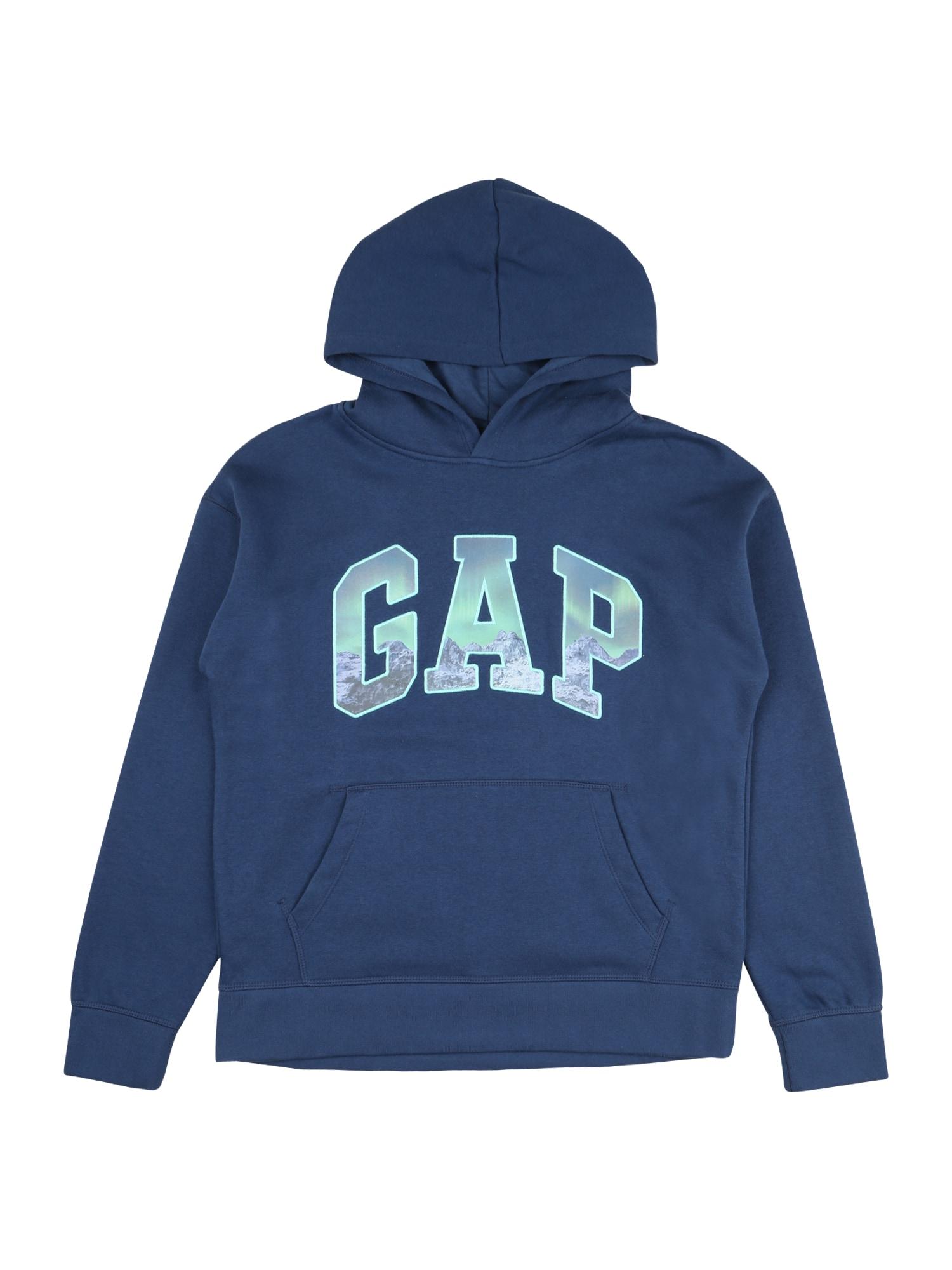 GAP Megztinis be užsegimo tamsiai mėlyna / azuro