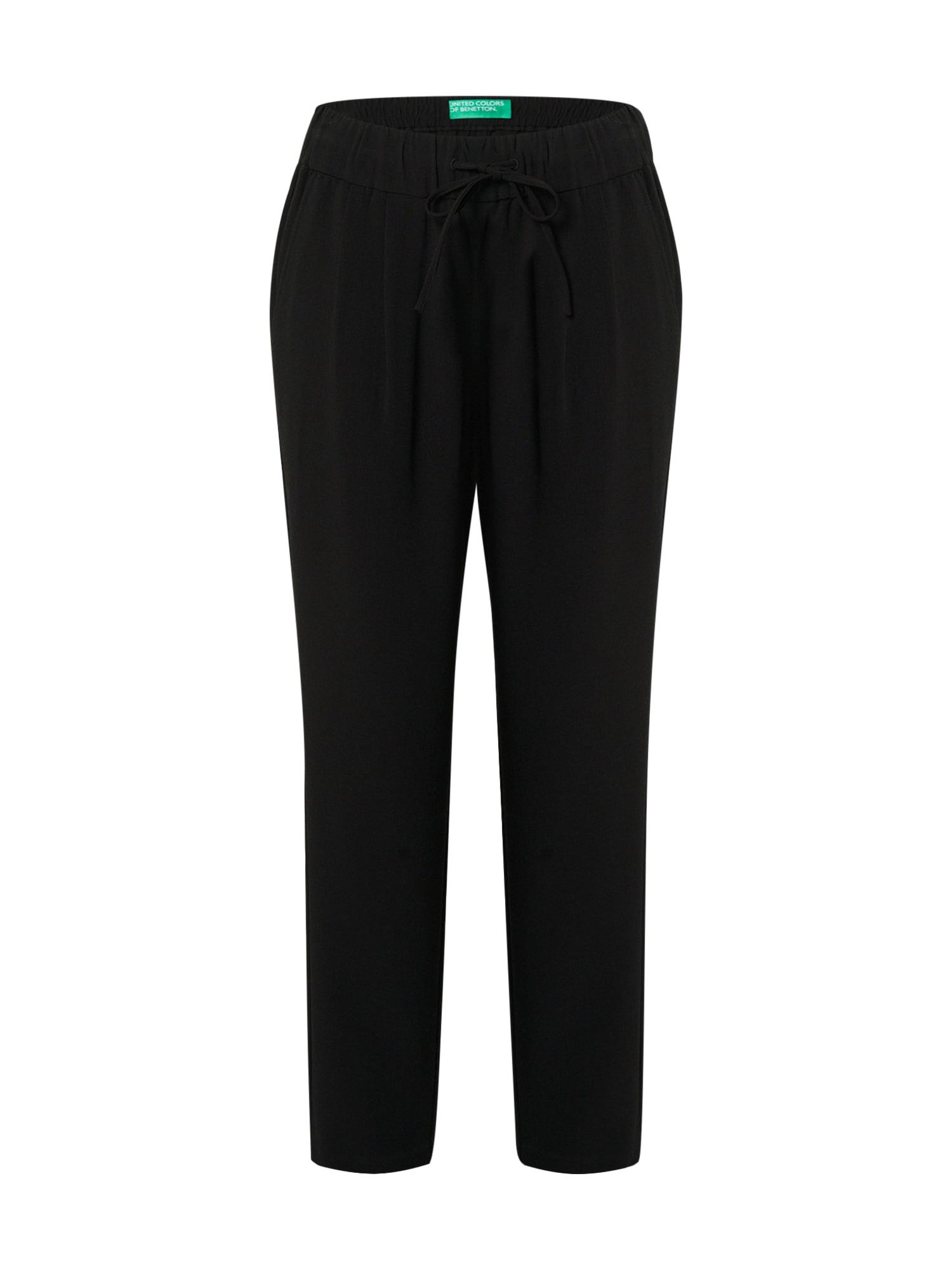 UNITED COLORS OF BENETTON Kalhoty  černá