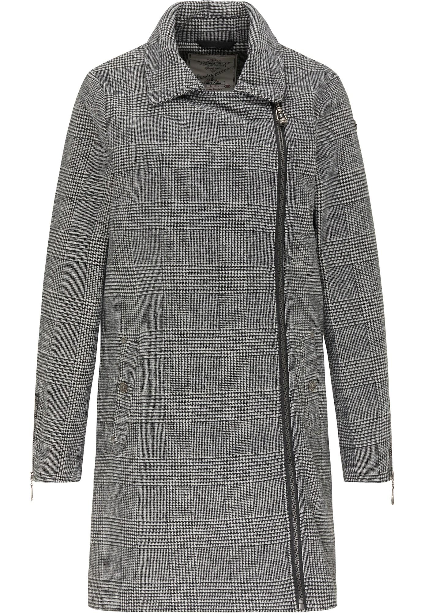 DreiMaster Vintage Žieminis paltas pilka / balta