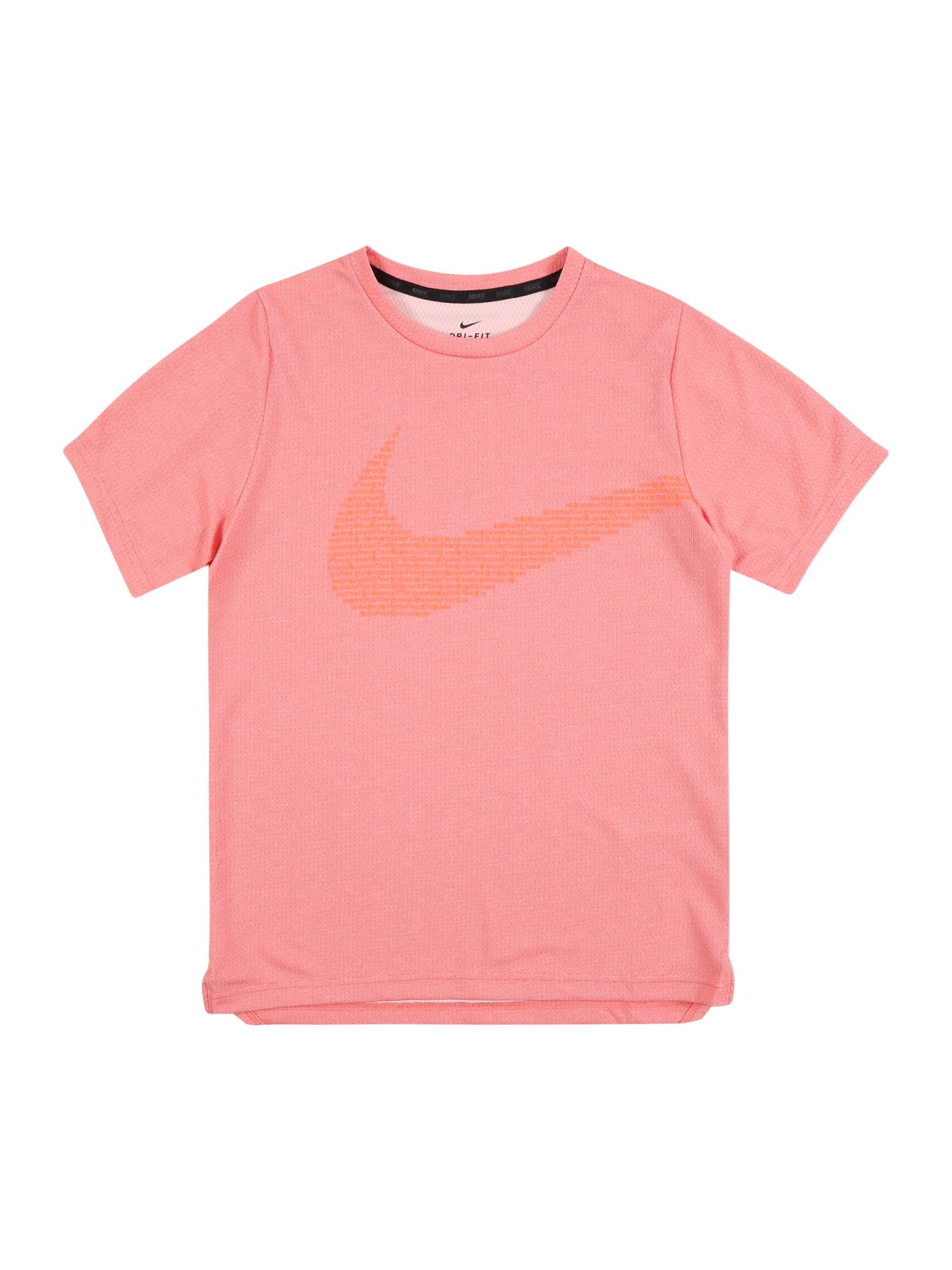NIKE Funkční tričko  červená / pink