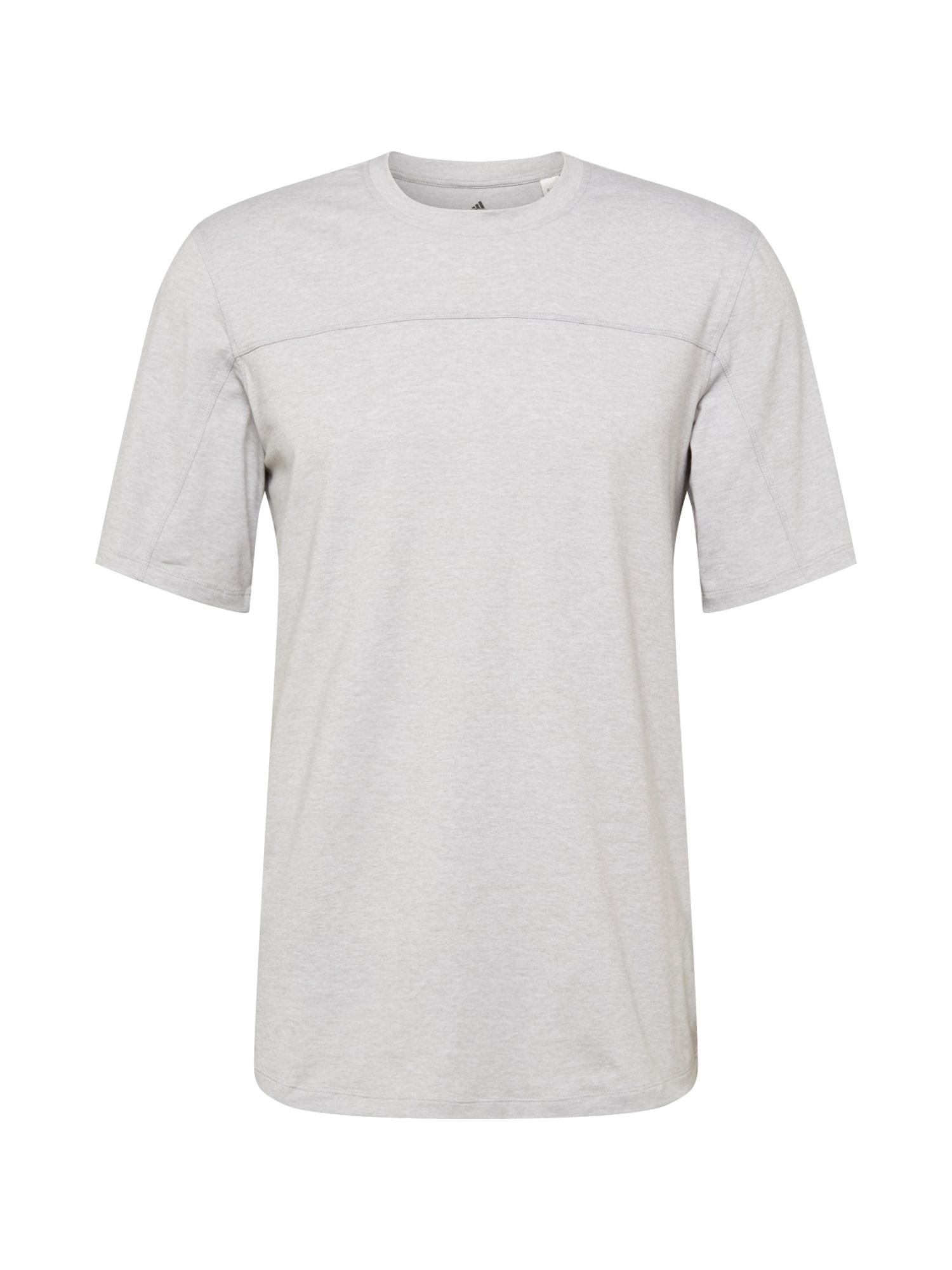 ADIDAS PERFORMANCE Funkční tričko 'CITY BASE'  světle šedá / černá