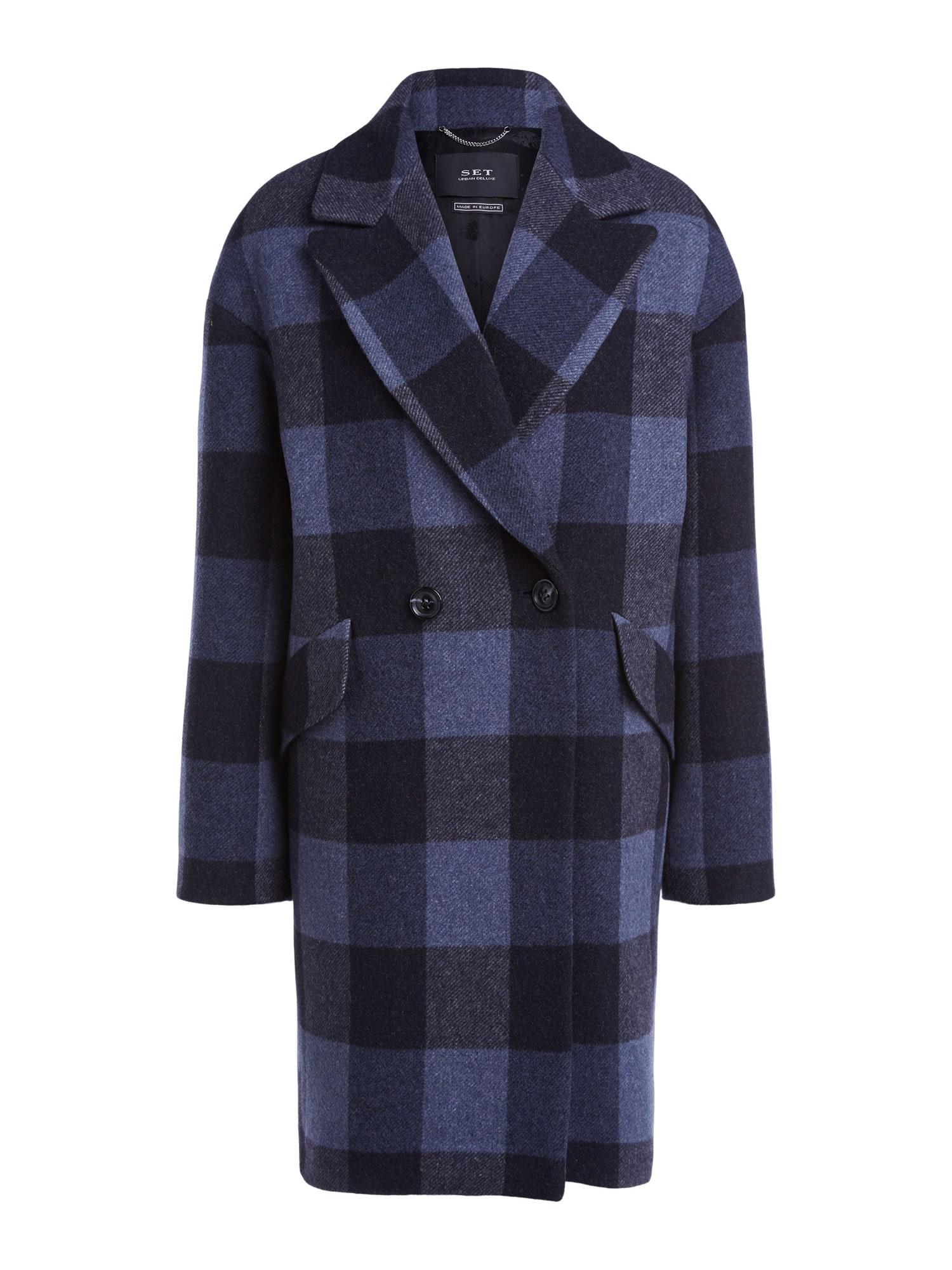 SET Přechodný kabát  modrá / černá
