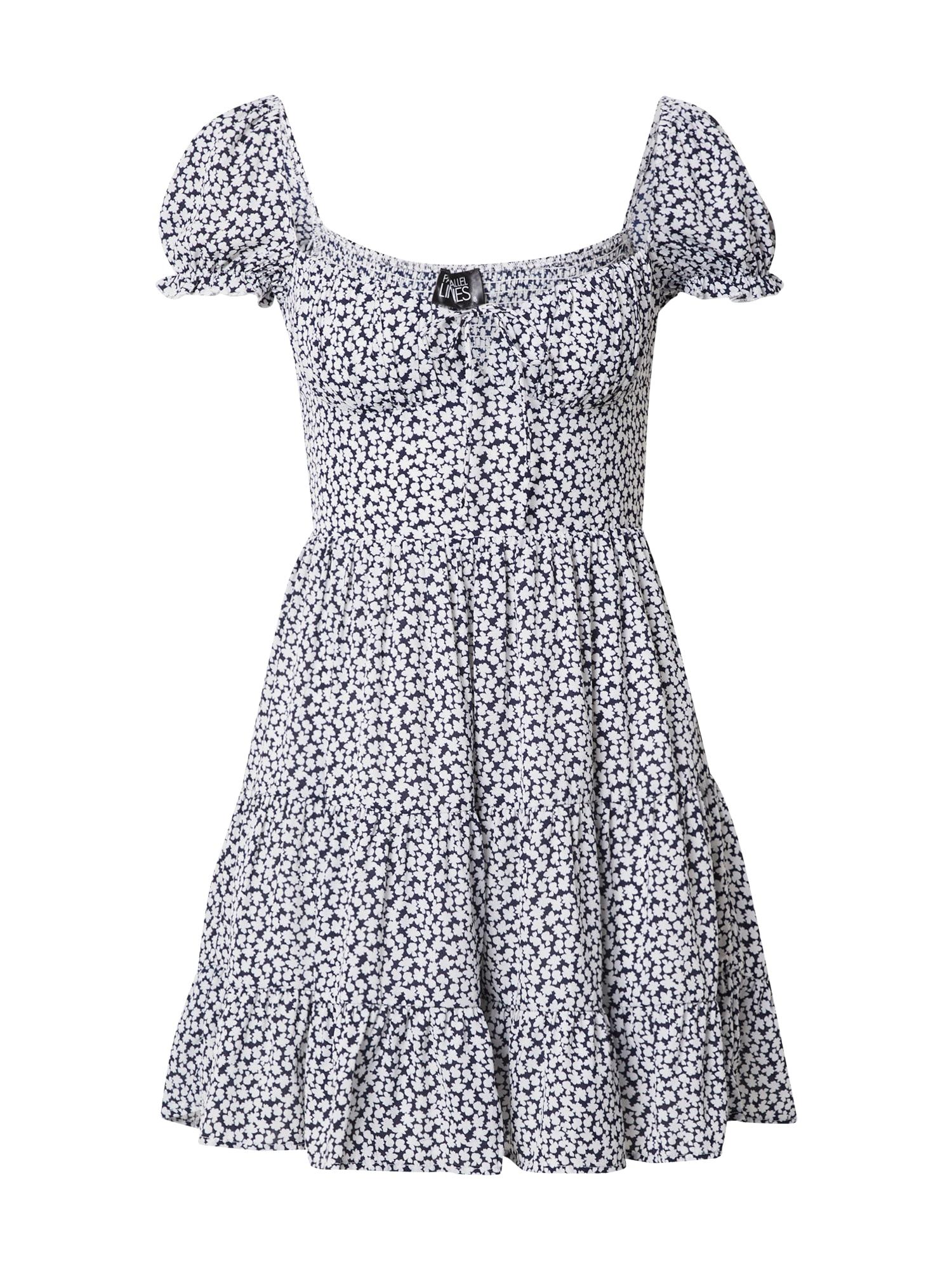 Parallel Lines Suknelė juoda / balta