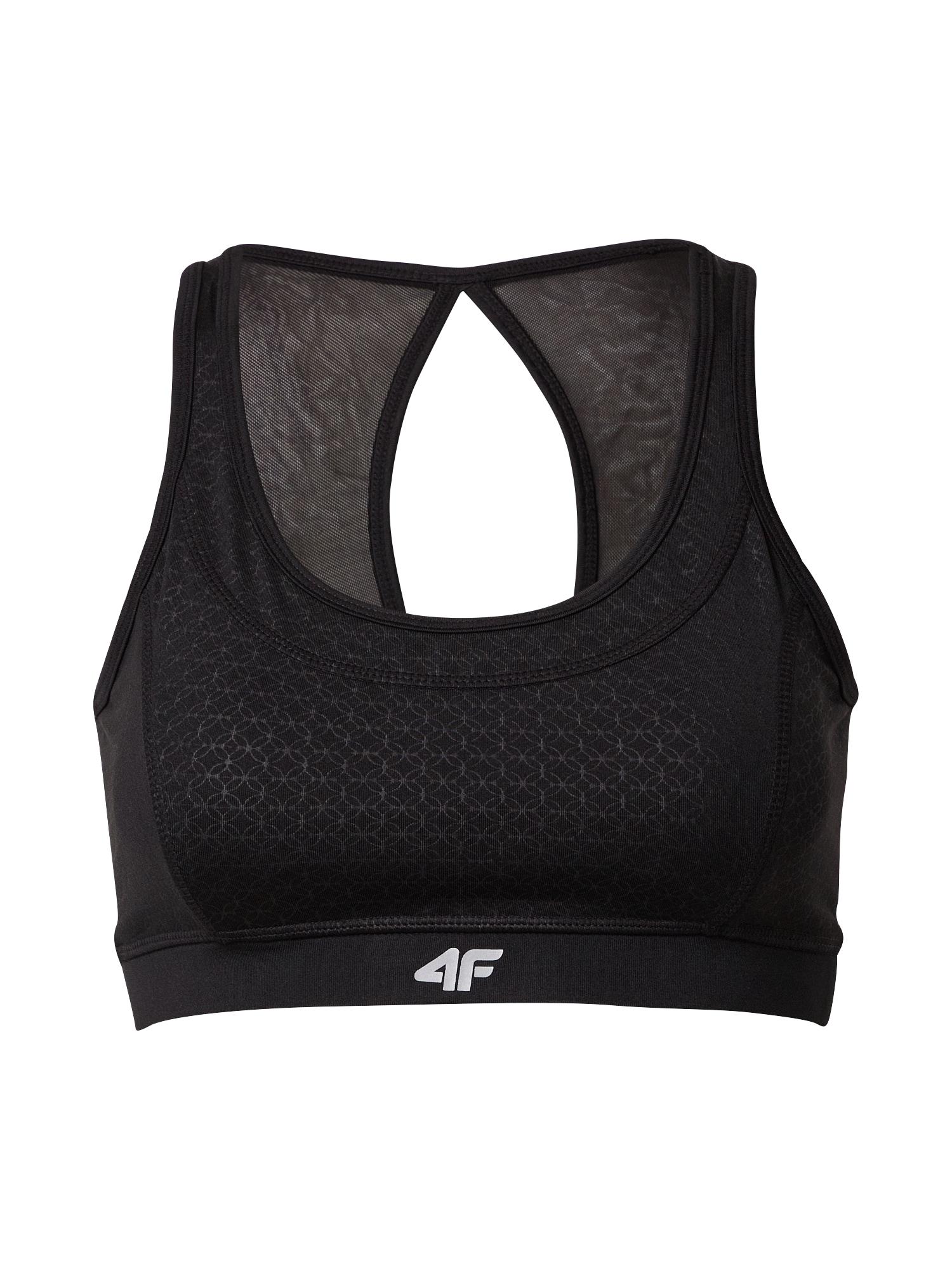 4F Sportovní podprsenka  černá