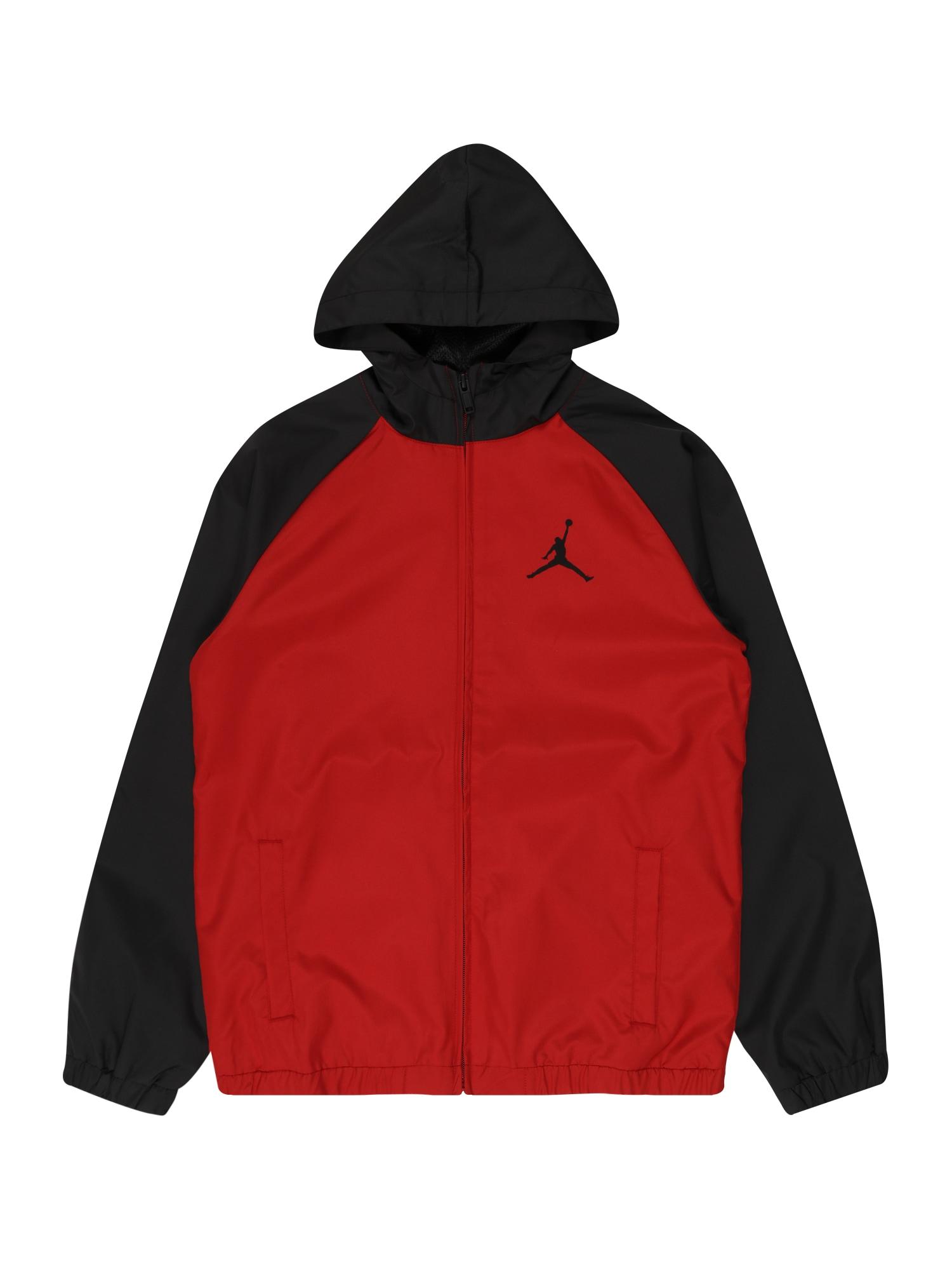 Jordan Demisezoninė striukė raudona / juoda