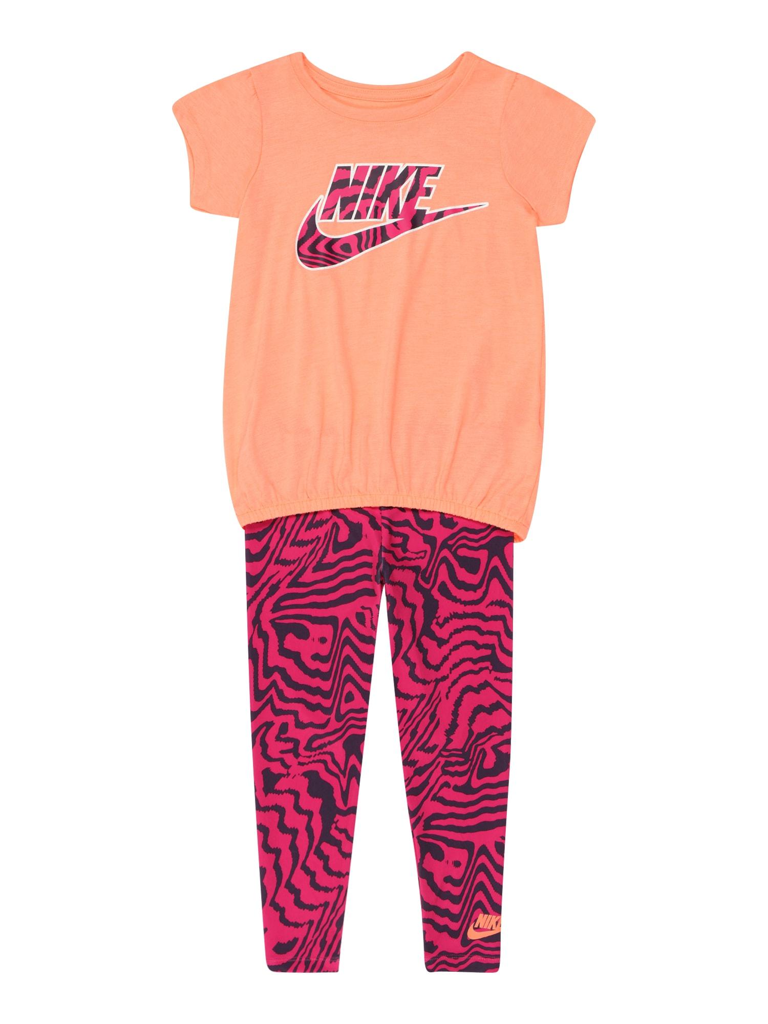 Nike Sportswear Rinkinys abrikosų spalva / tamsiai rožinė / juoda